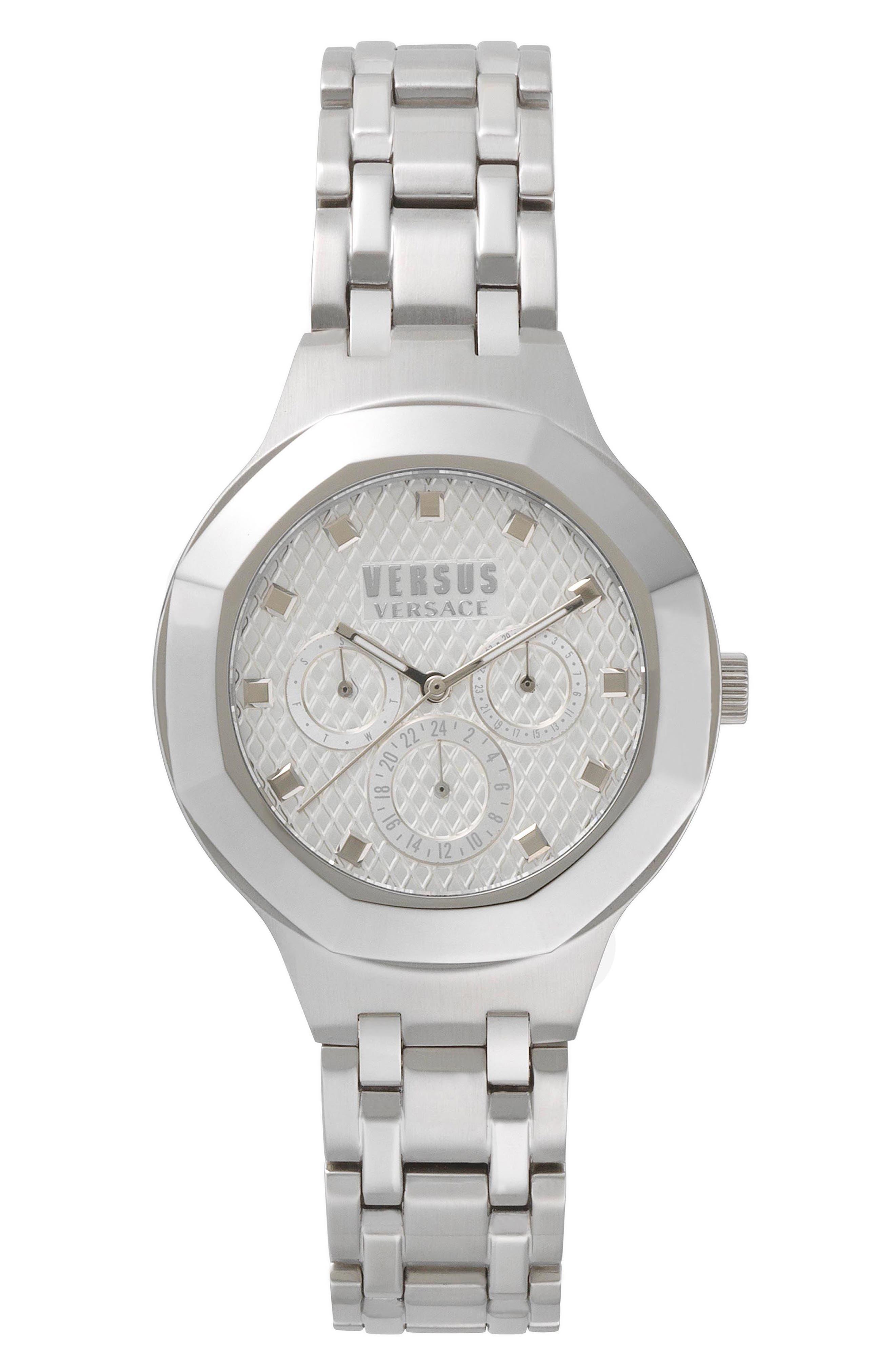VERSUS by Versace Laguna City Multifunction Bracelet Watch, 40mm,                         Main,                         color, Silver