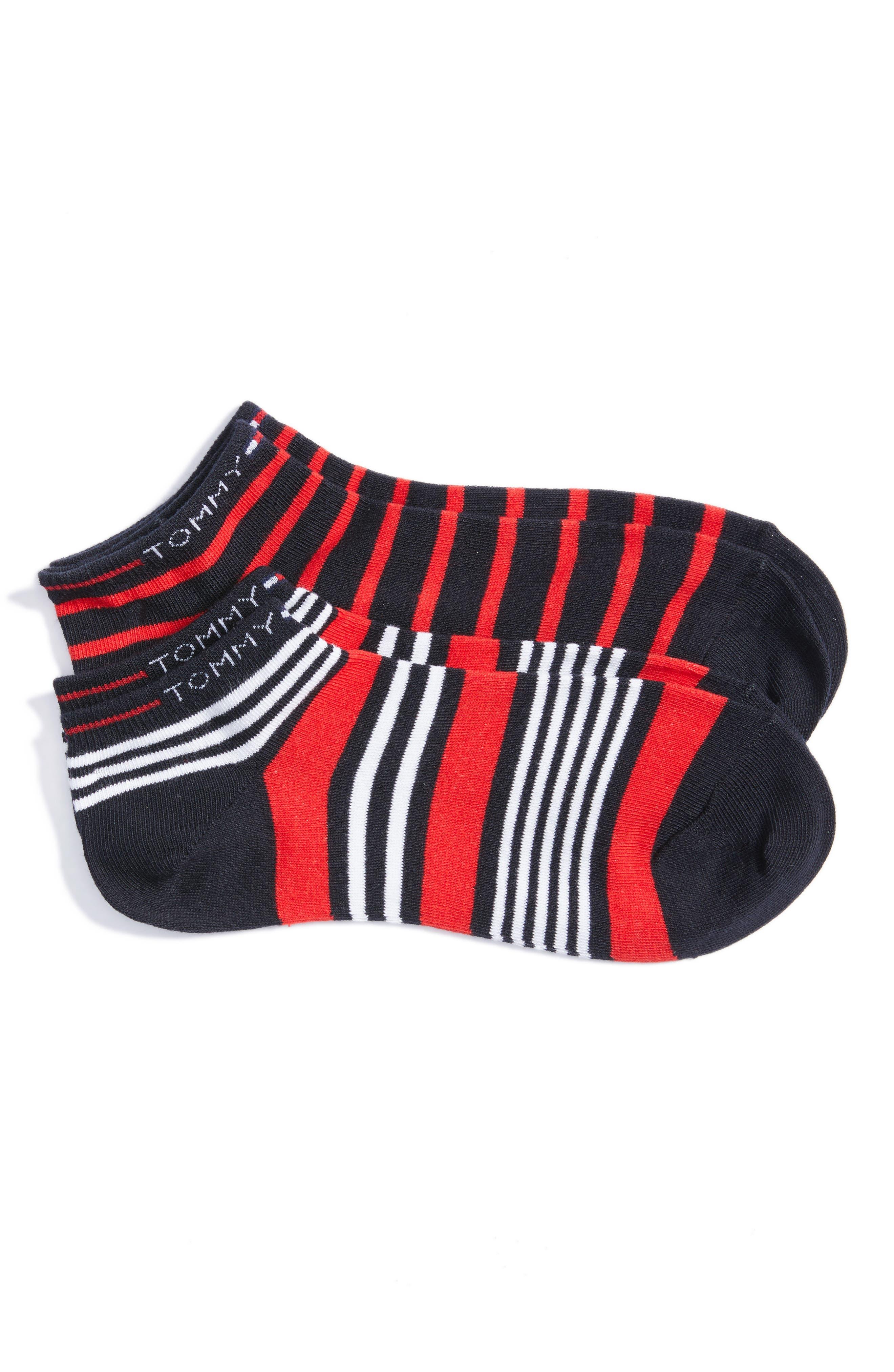 Tommy Hilfiger 2-Pack Stripe Low Cut Socks