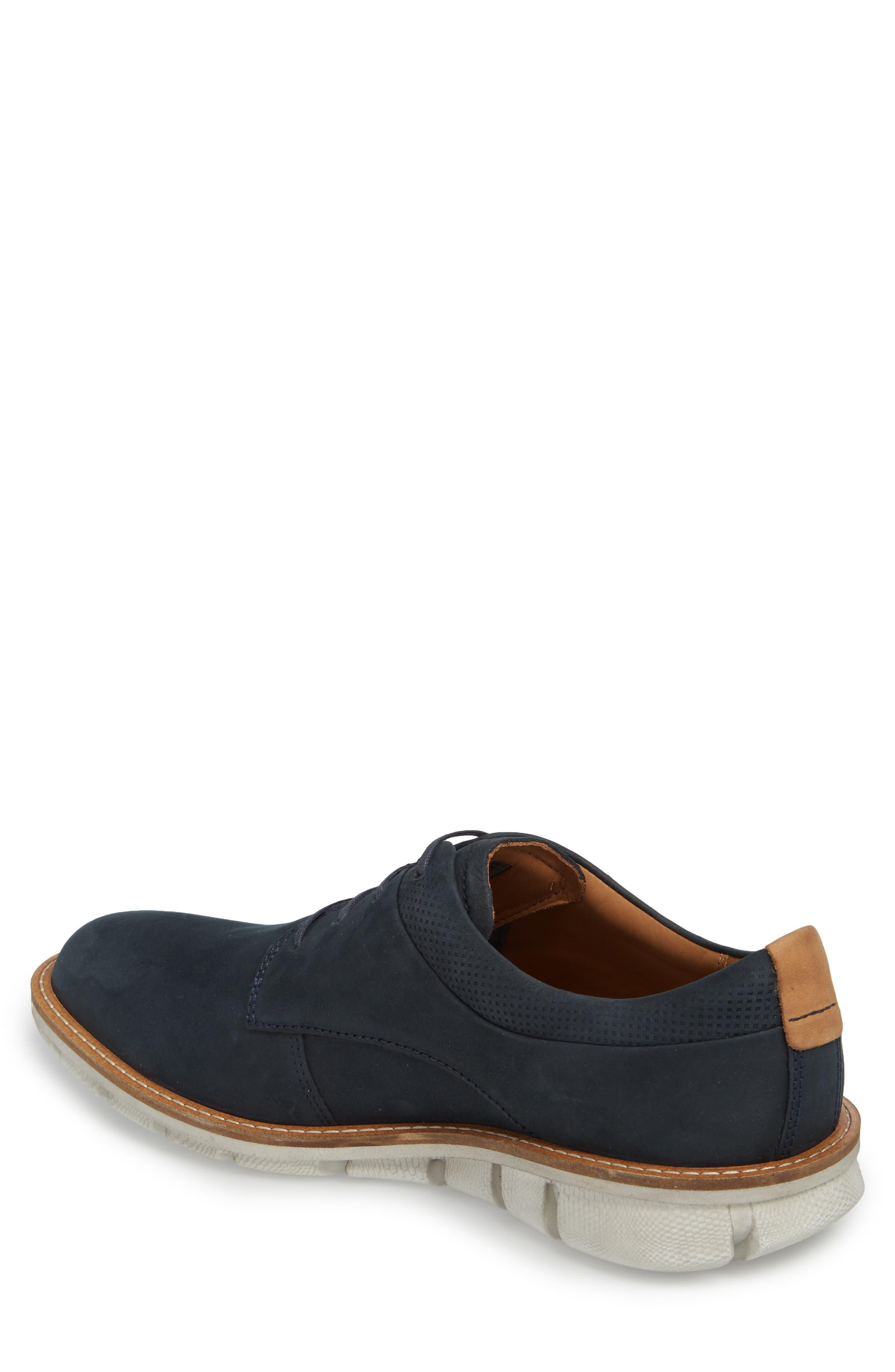 Jeremy Hybrid Plain Toe Derby,                             Alternate thumbnail 2, color,                             Navy Leather