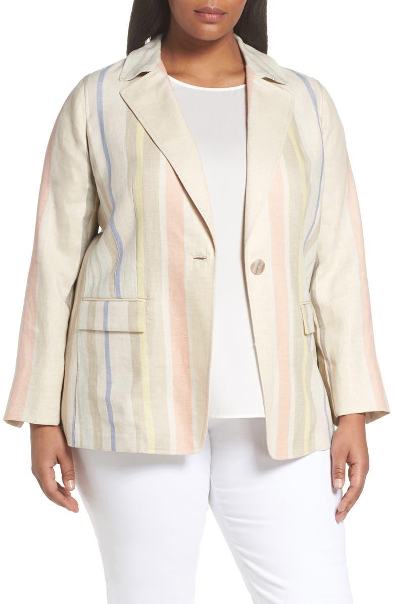 Marie Stripe Linen Jacket