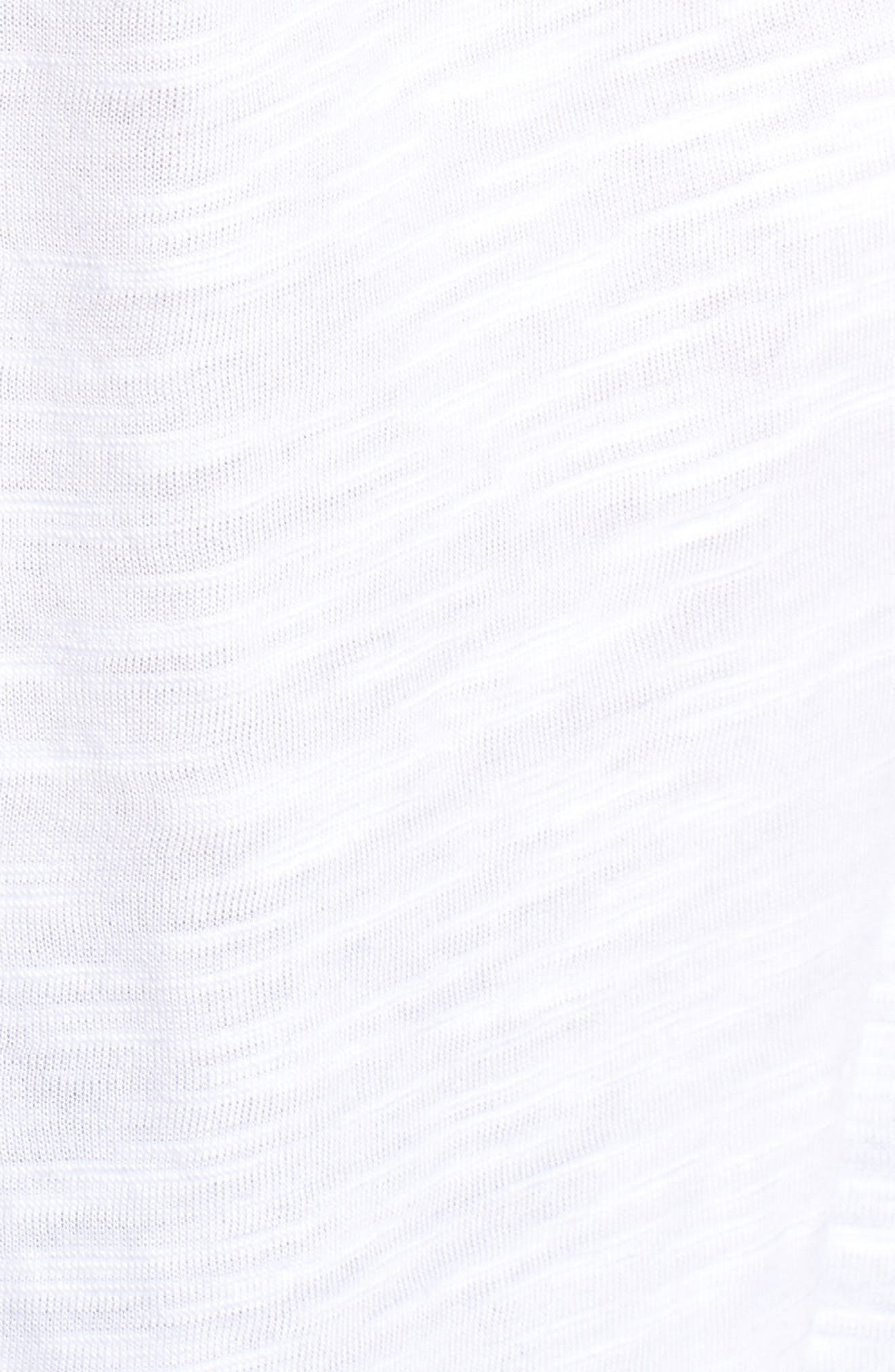 Eyelet Detail Baby Doll Top,                             Alternate thumbnail 6, color,                             White