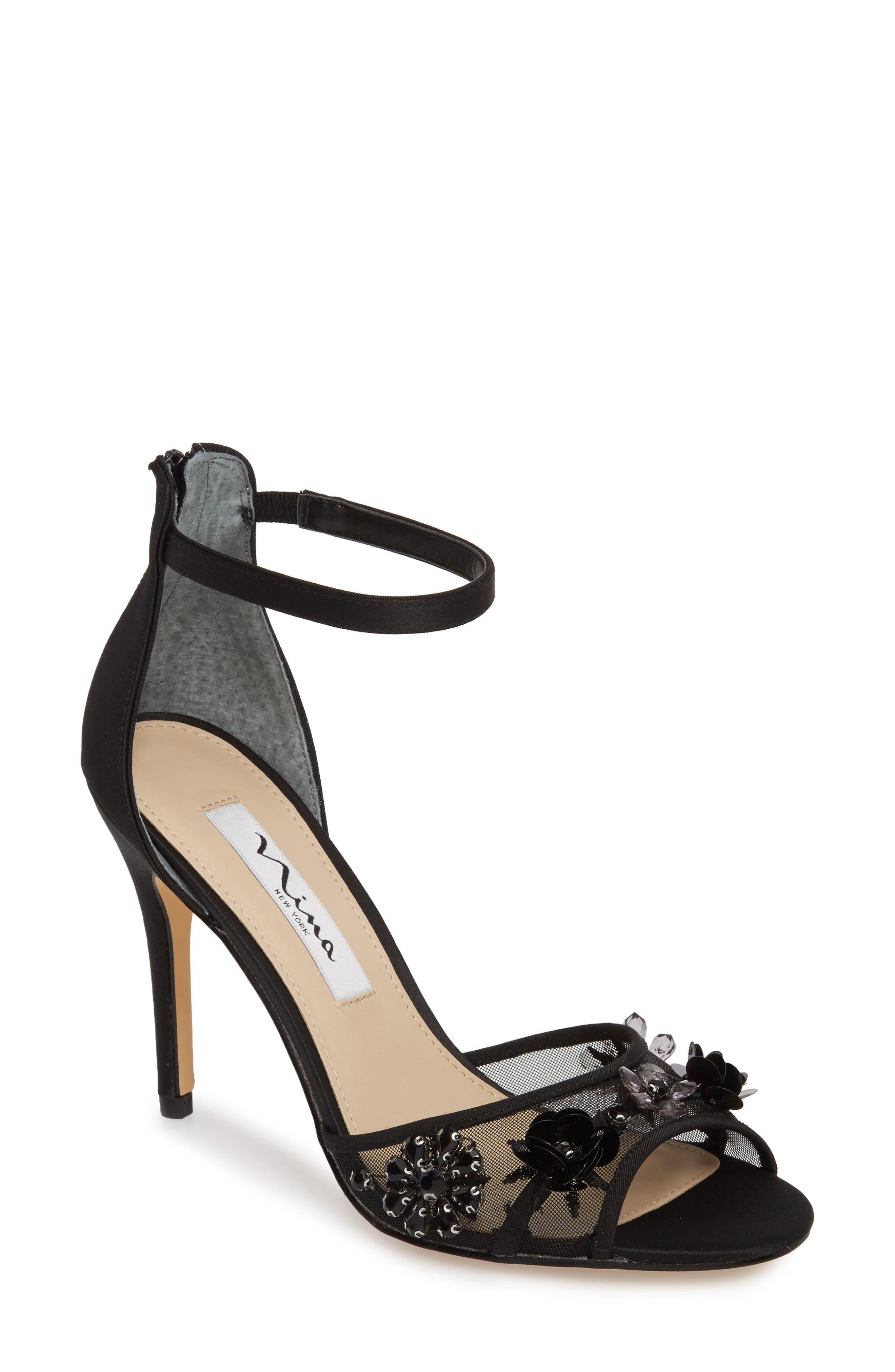 Nina Clarity Ankle Strap Sandal (Women)