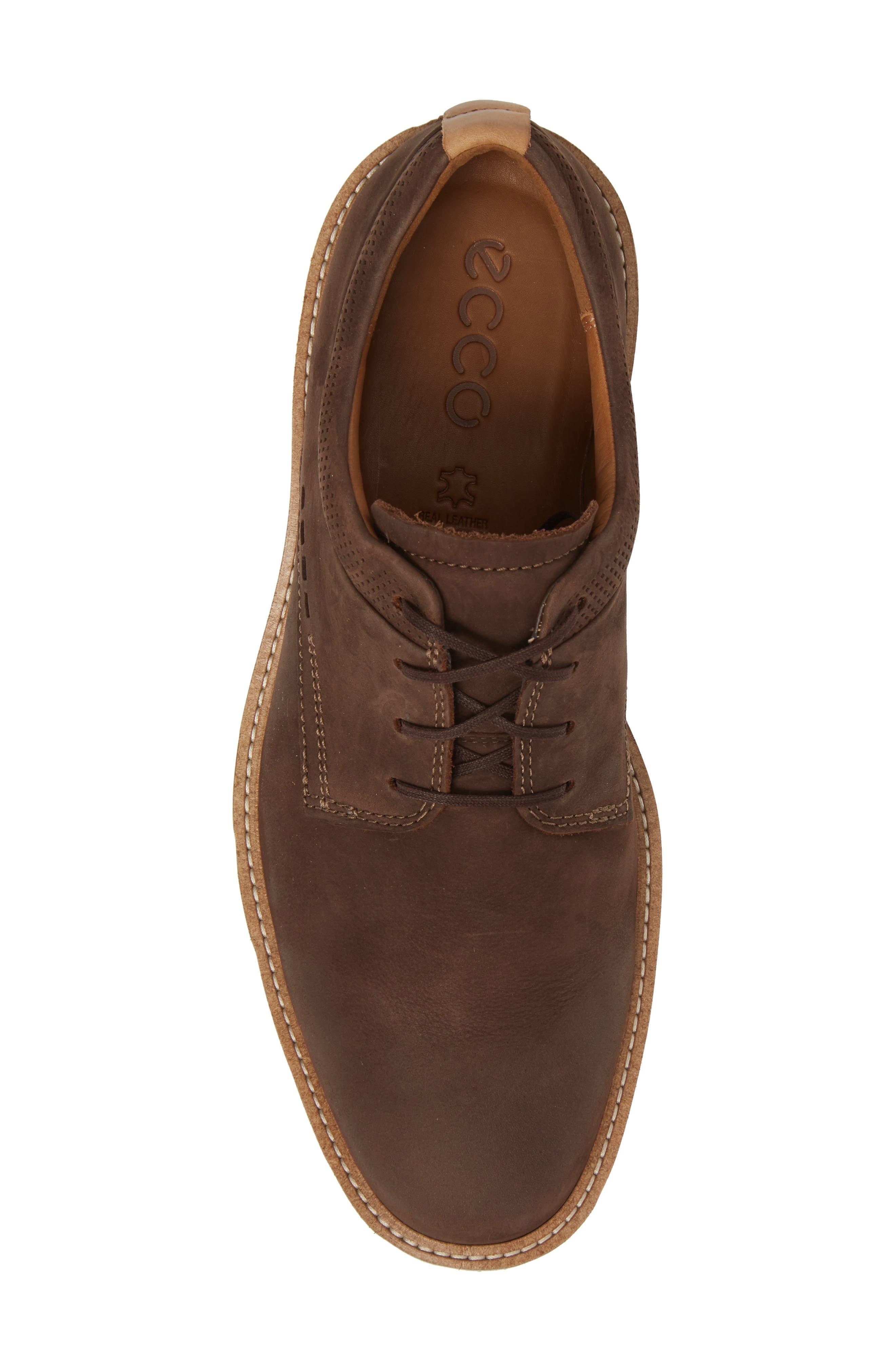 Jeremy Hybrid Plain Toe Derby,                             Alternate thumbnail 5, color,                             Coffee Leather
