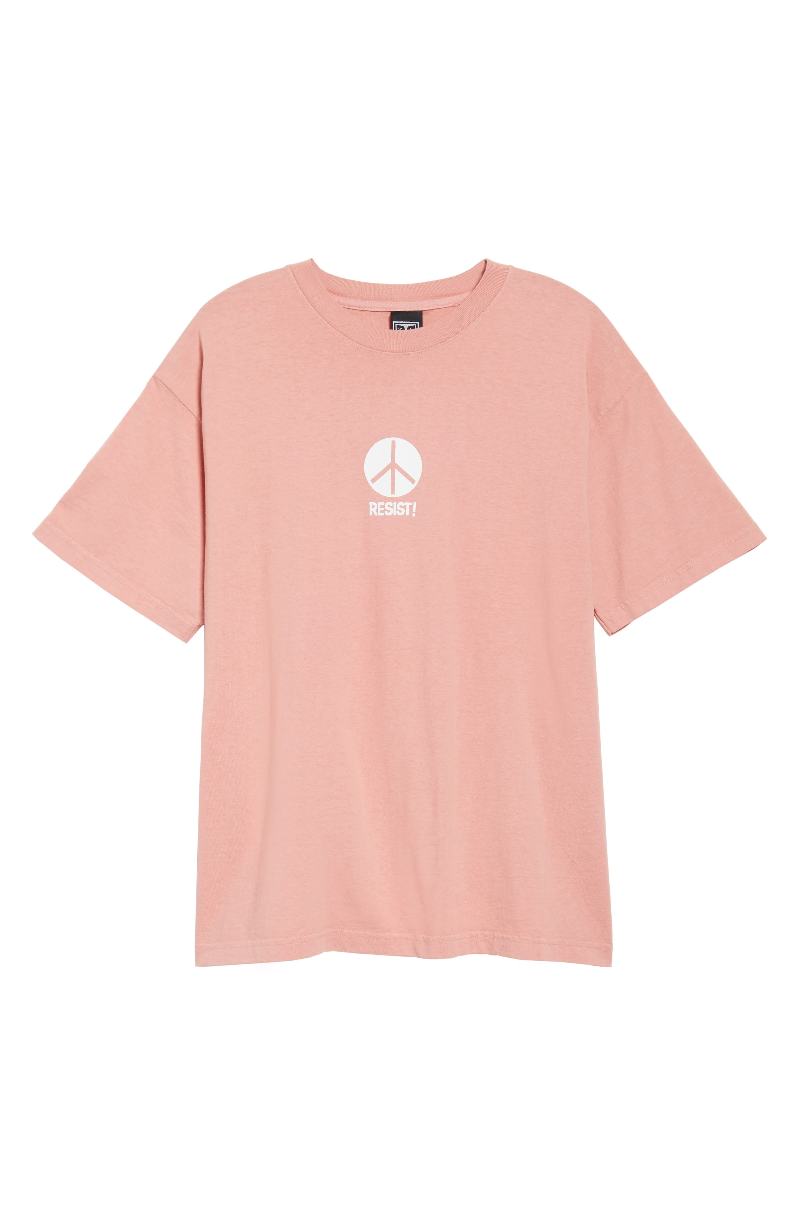 The Next Wave Boxy T-Shirt,                             Alternate thumbnail 6, color,                             Coral