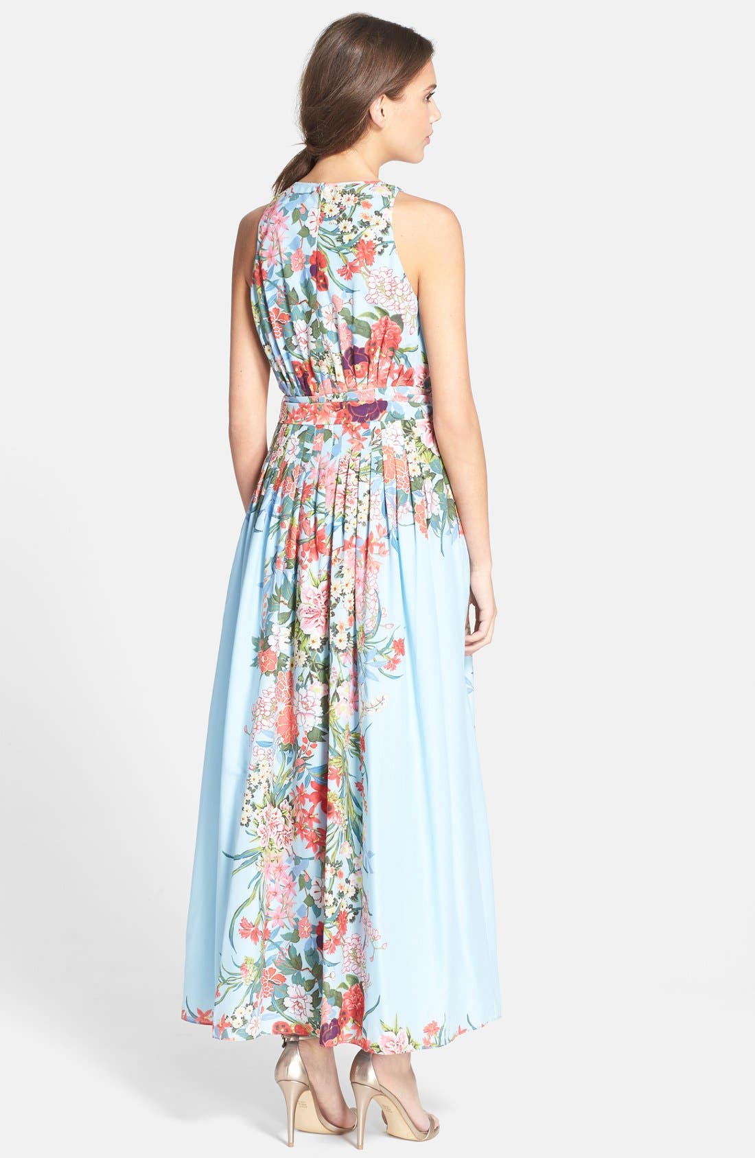 Alternate Image 2  - Adrianna Papell Print Chiffon Fit & Flare Dress