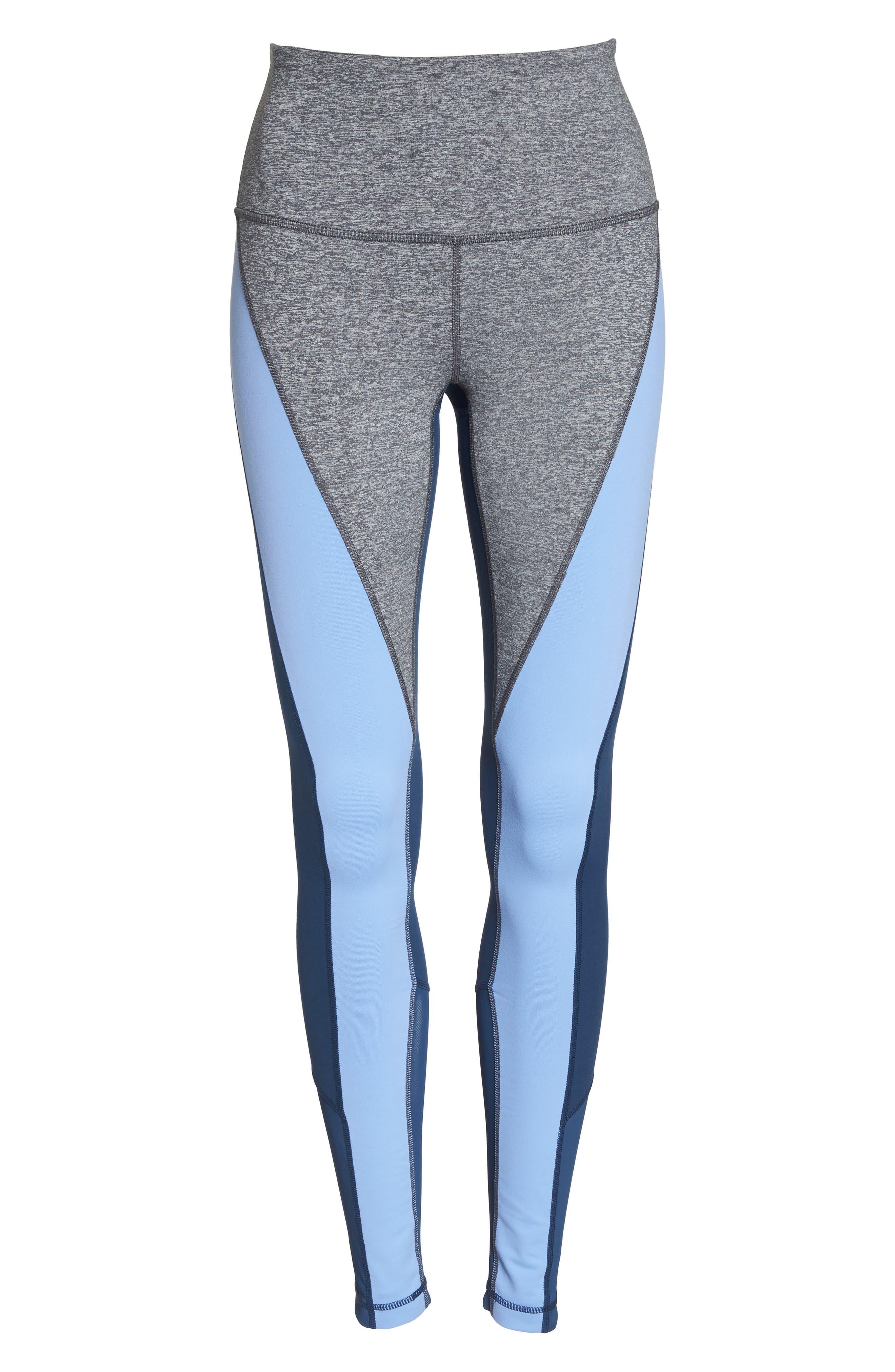 Get in Line High Waist Leggings,                             Alternate thumbnail 7, color,                             Grey Graphite Melange