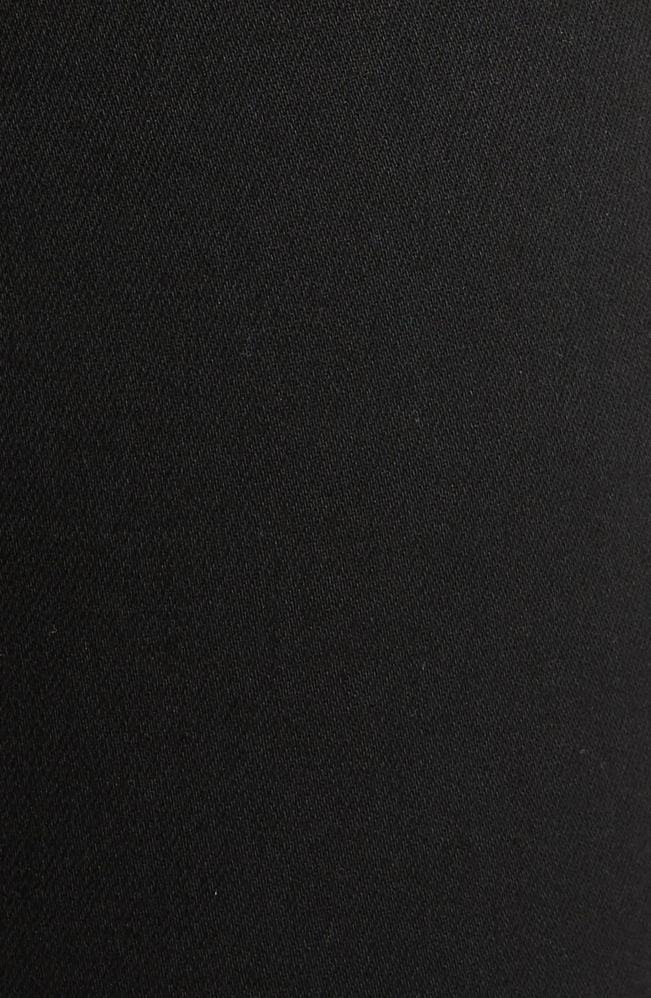 Isabel High Waist Skinny Jeans,                             Alternate thumbnail 6, color,                             Black