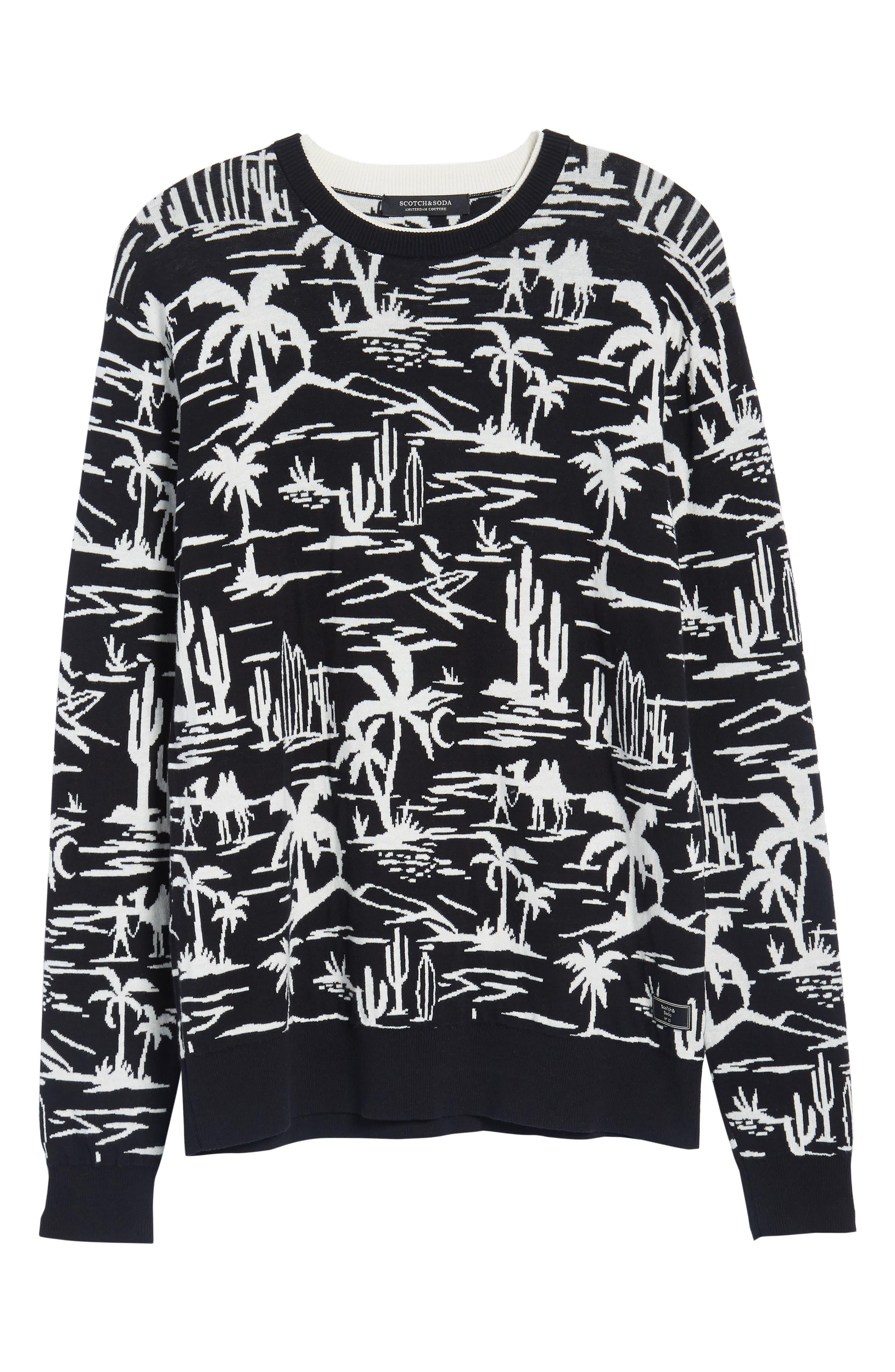 Jacquard Pattern Sweatshirt,                             Alternate thumbnail 6, color,                             Combo A