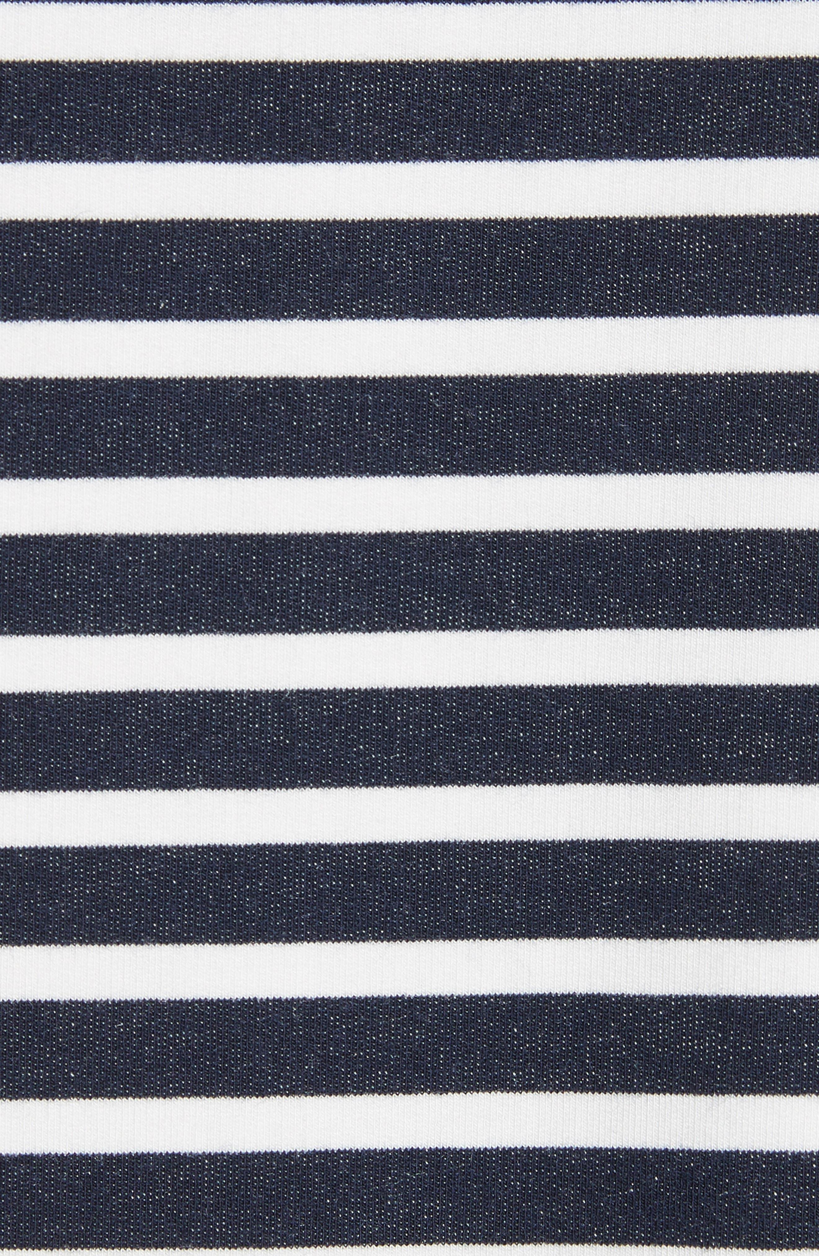 Stripe Sweatshirt,                             Alternate thumbnail 5, color,                             Marine/ Milk