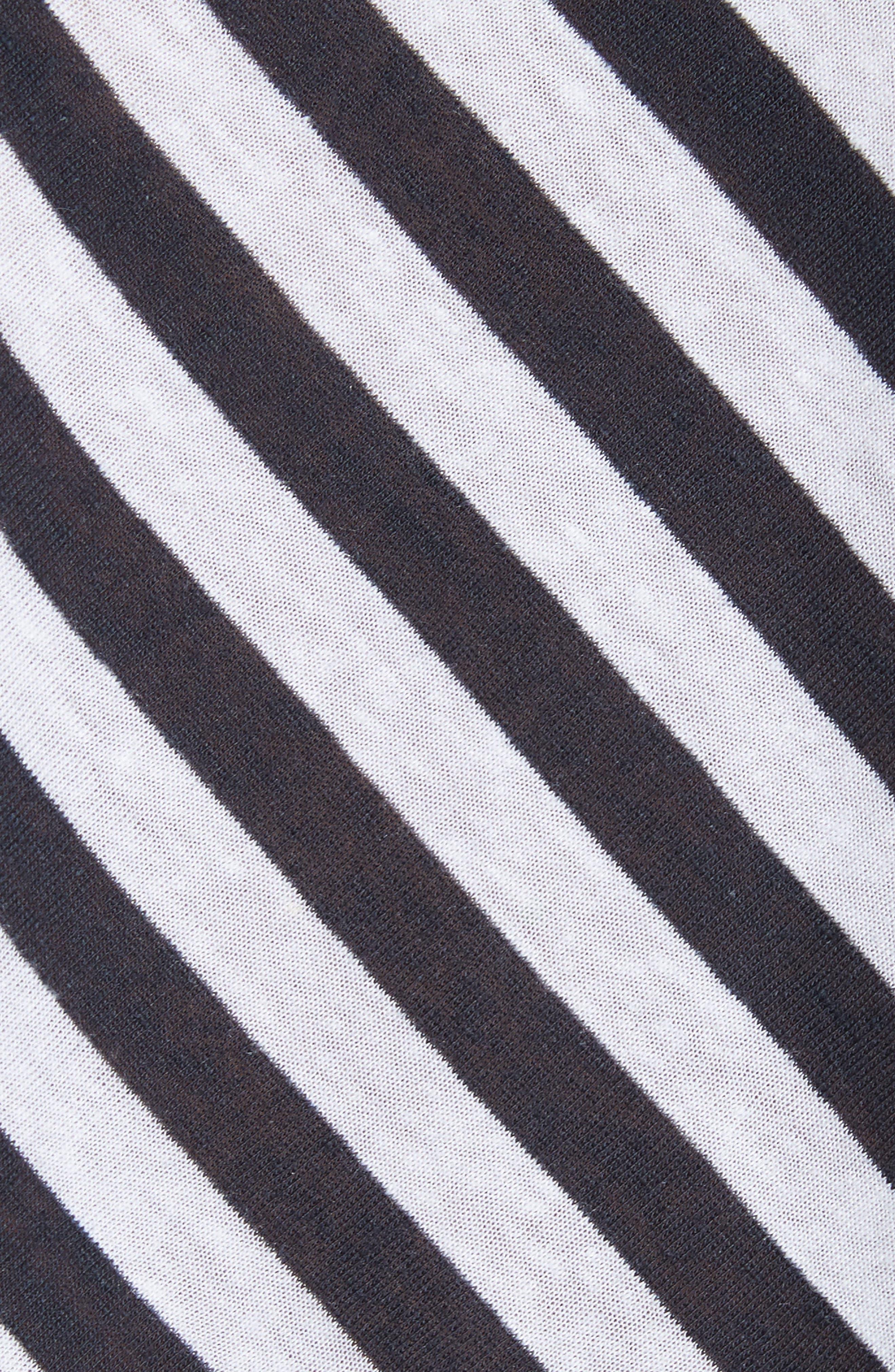 Laila Stripe Tee,                             Alternate thumbnail 5, color,                             Navy/ White