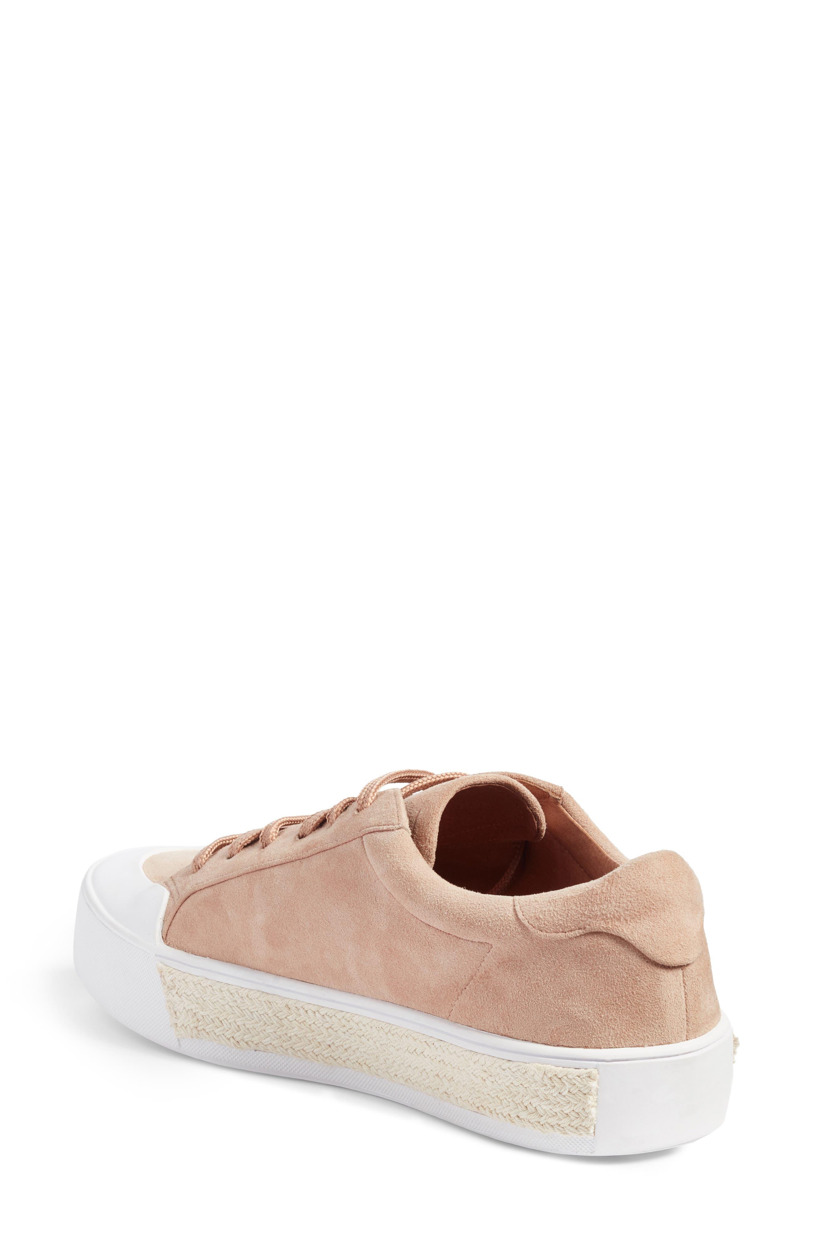 Toran Platform Sneaker,                             Alternate thumbnail 2, color,                             Blush Suede