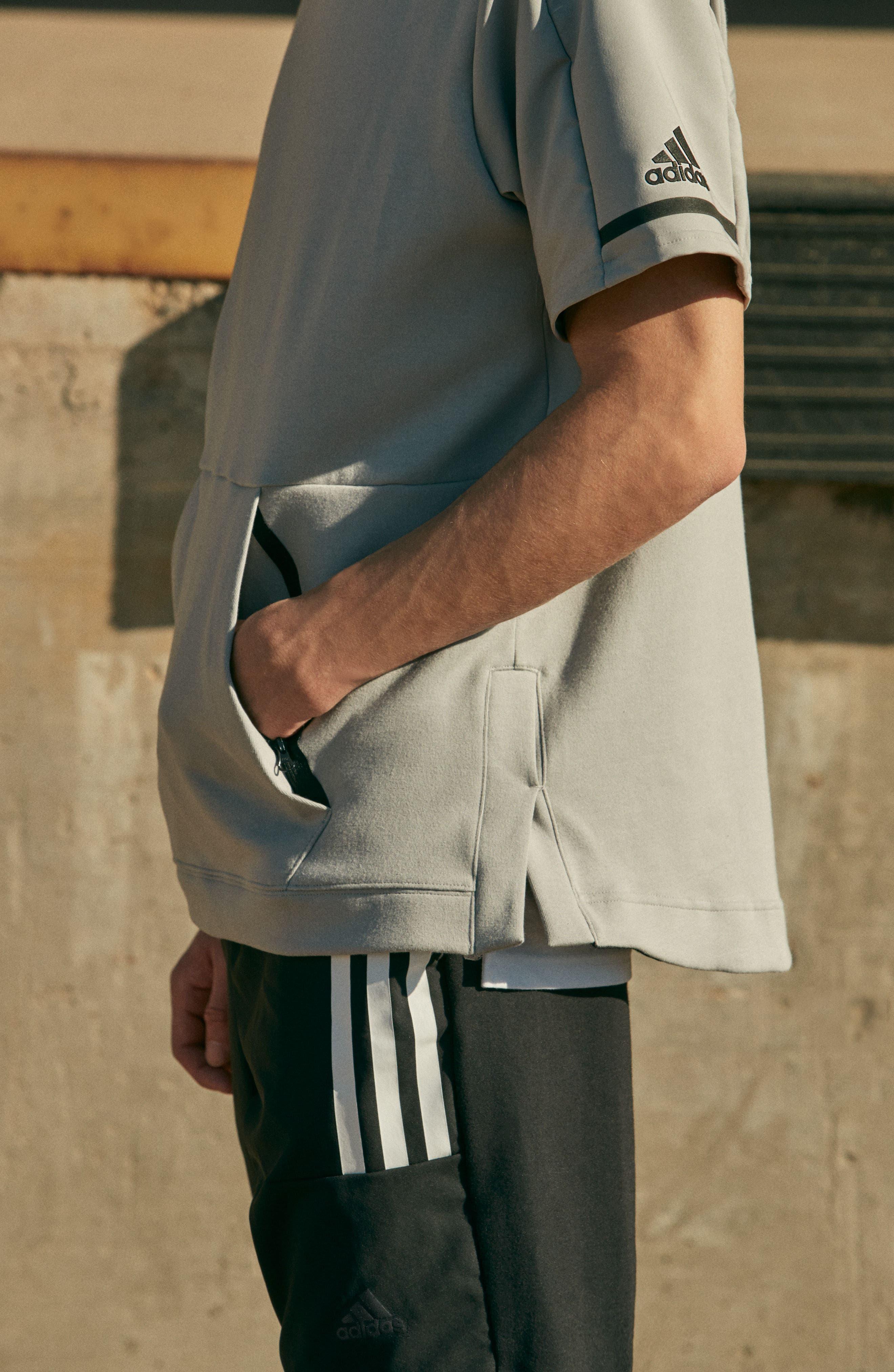 Alternate Image 4  - adidas SQD Short Sleeve Hoodie