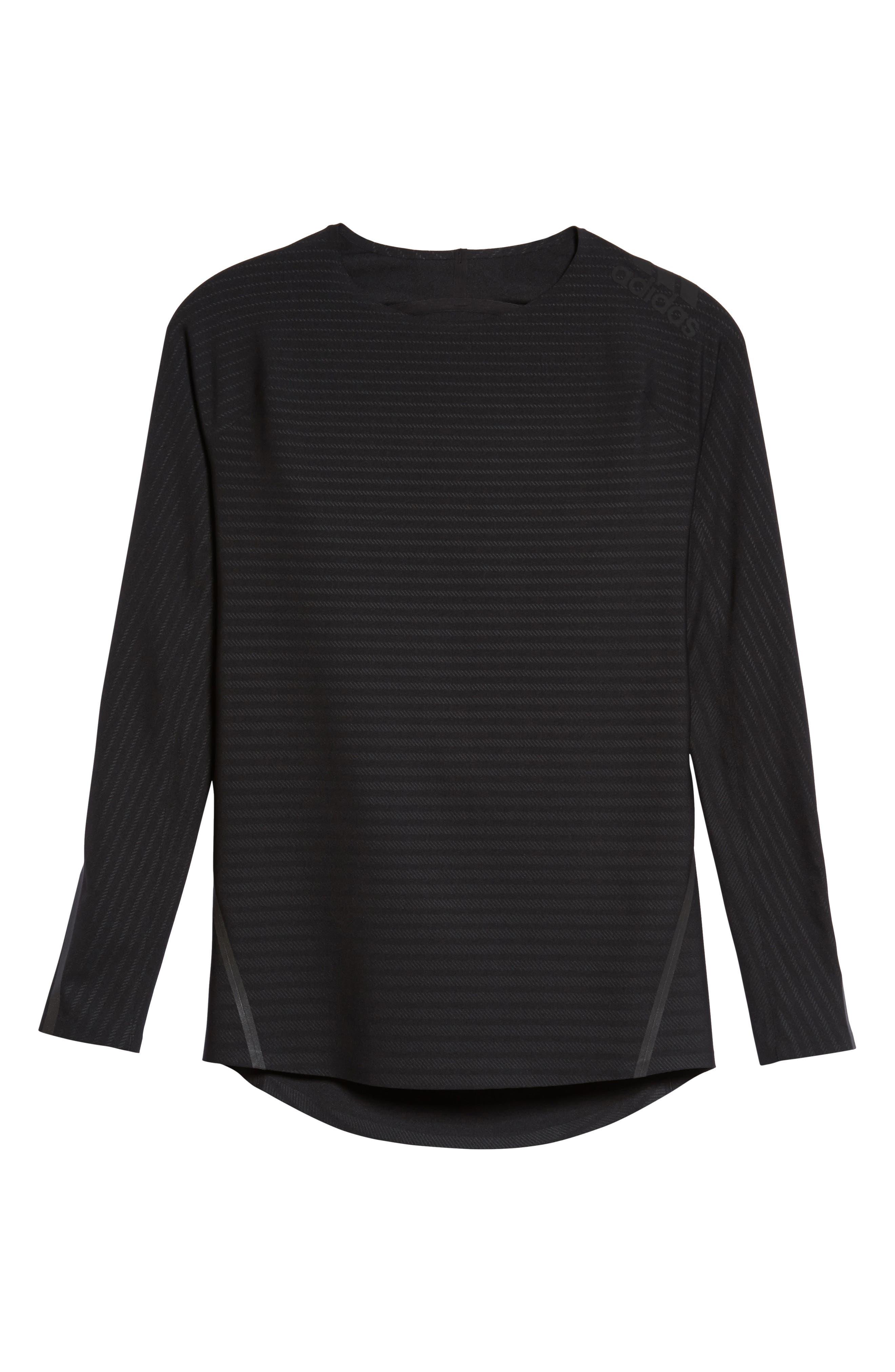 Alphaskin 360 Long Sleeve T-Shirt,                             Alternate thumbnail 2, color,                             Black