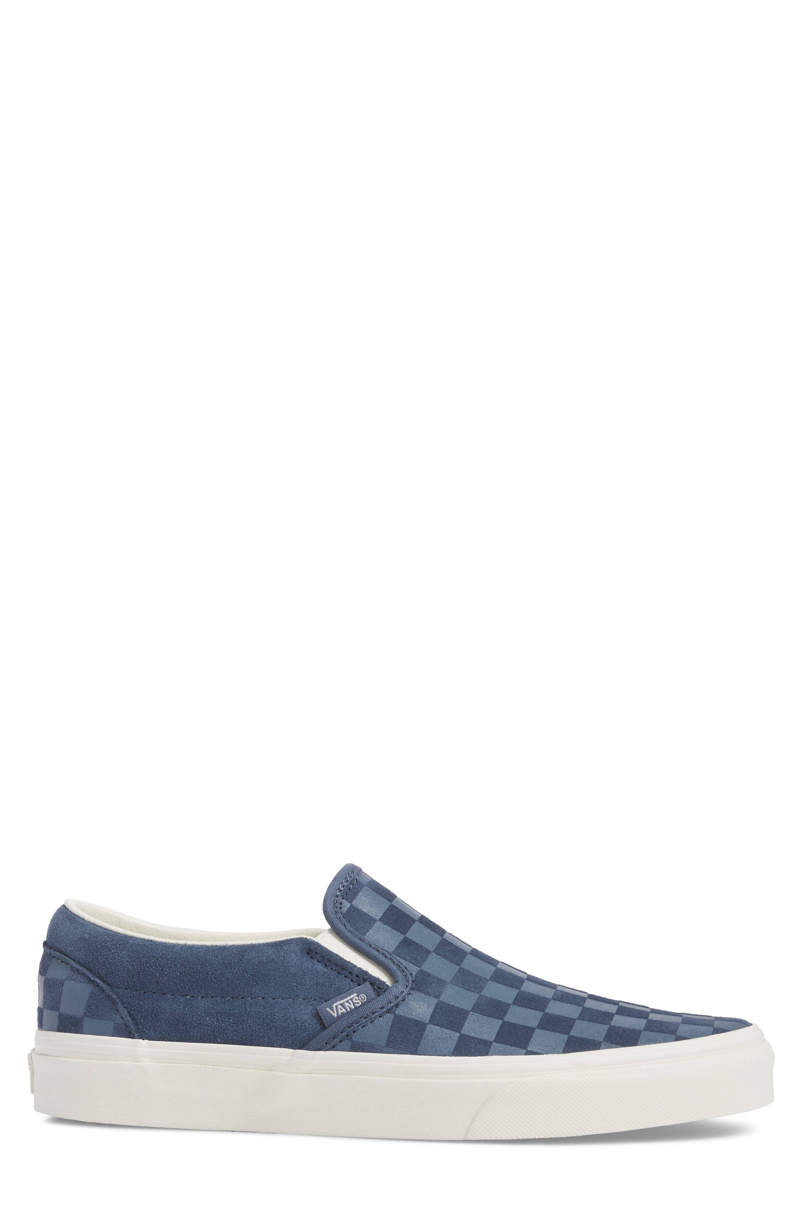 Classic Slip-On Sneaker,                             Alternate thumbnail 3, color,                             Indigo/ Marshmallow Leather
