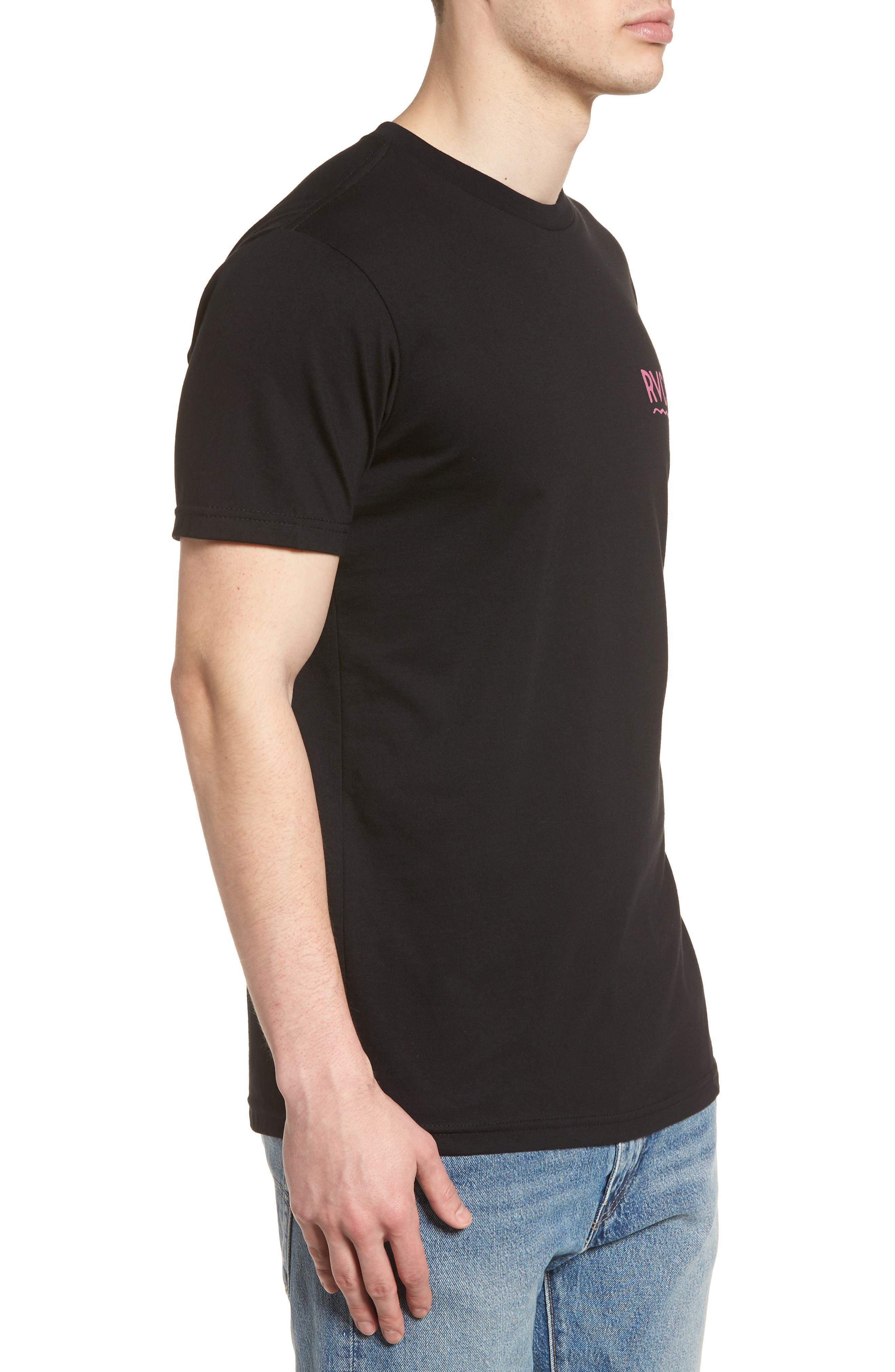Squiggle T-Shirt,                             Alternate thumbnail 3, color,                             Black