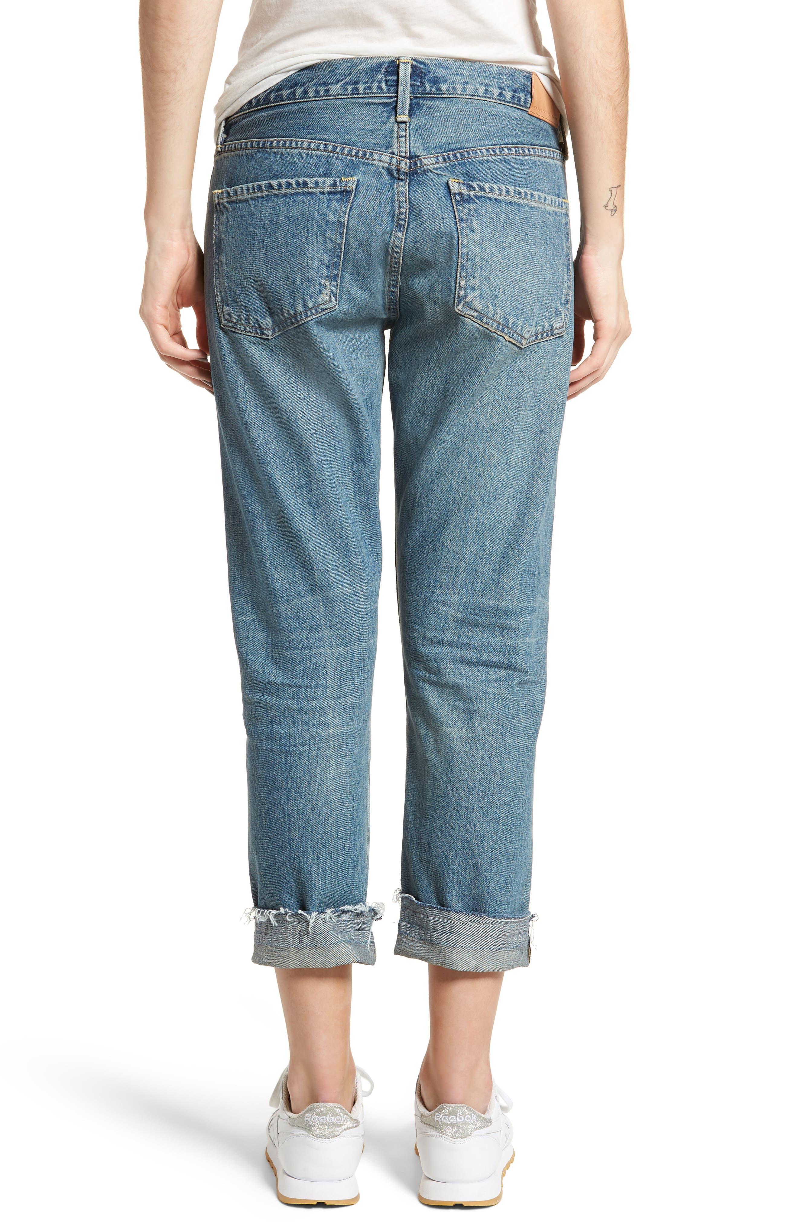 Emerson Crop Slim Boyfriend Jeans,                             Alternate thumbnail 2, color,                             Somerset
