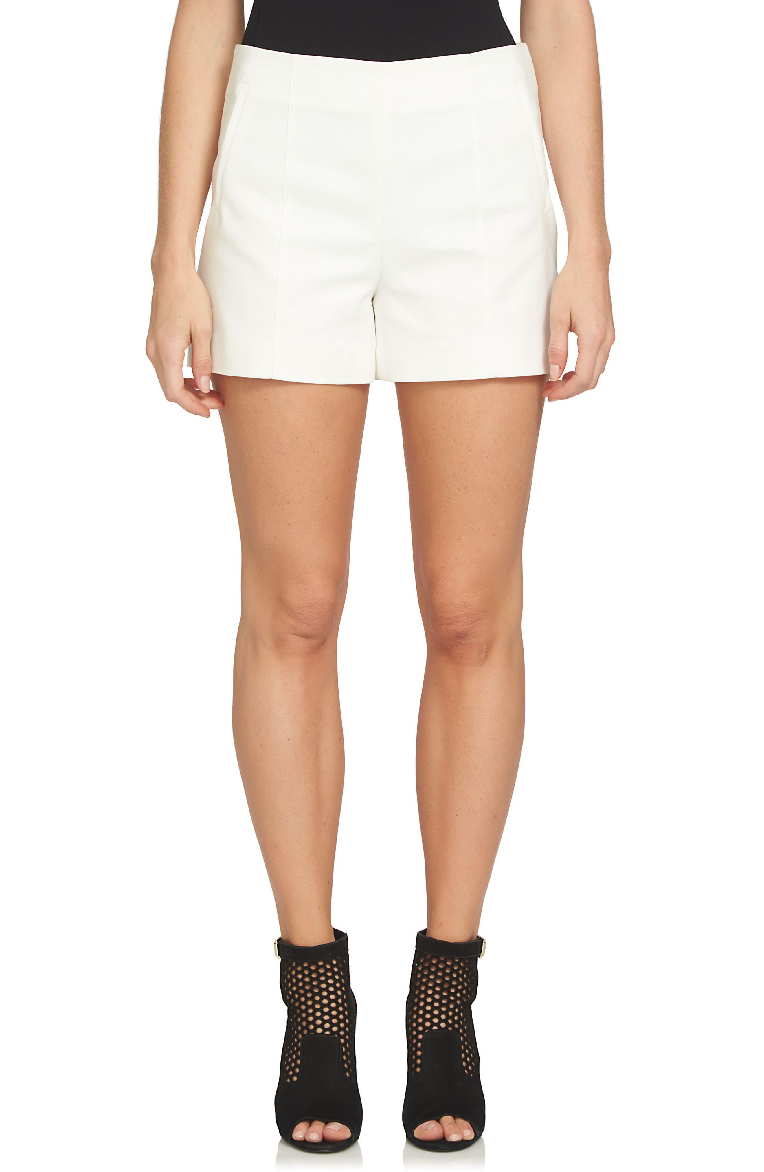 Flat Front Shorts,                             Main thumbnail 1, color,                             New Ivory
