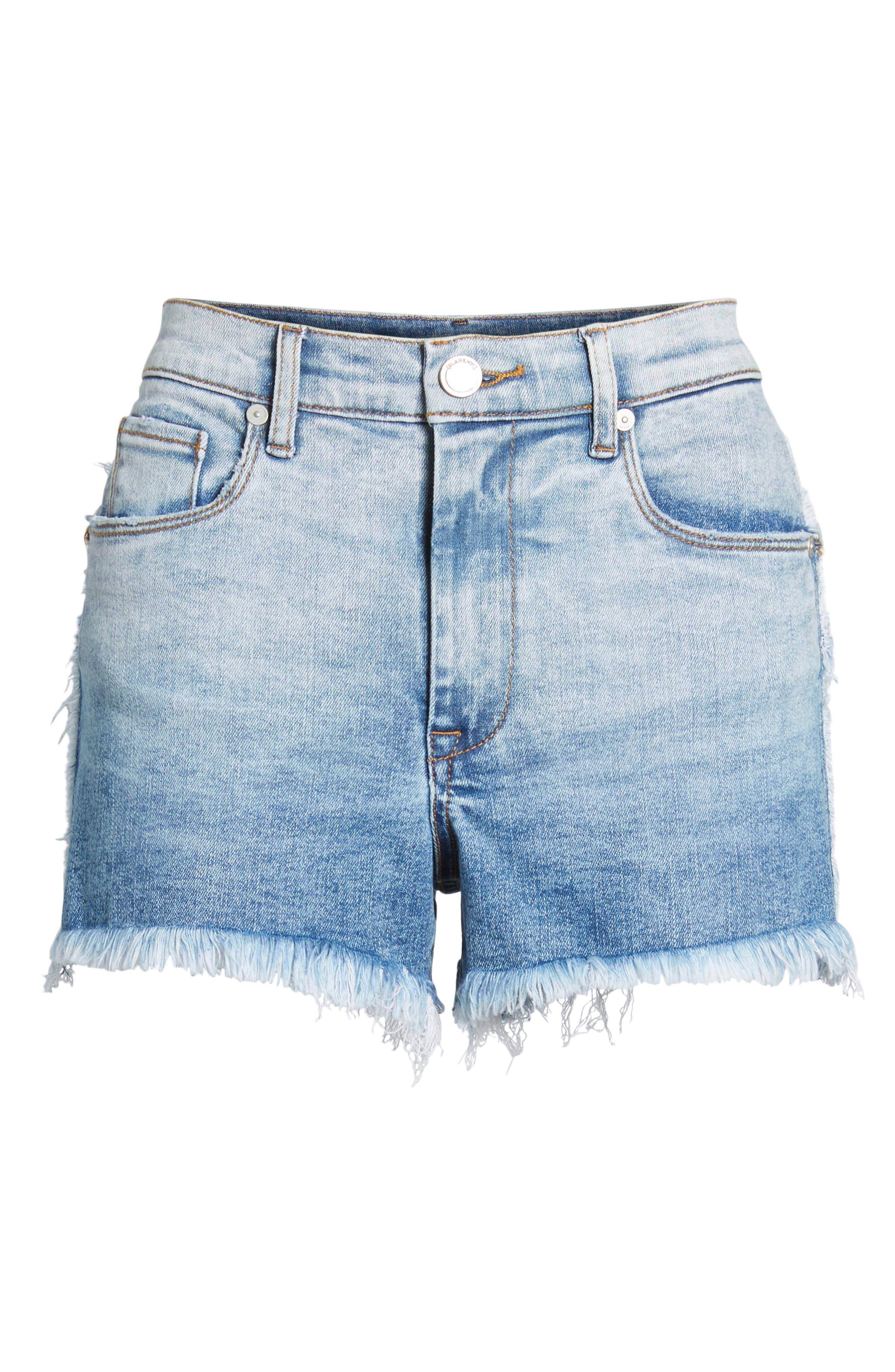 High Waist Cutoff Denim Shorts,                             Alternate thumbnail 7, color,                             Burn Notice