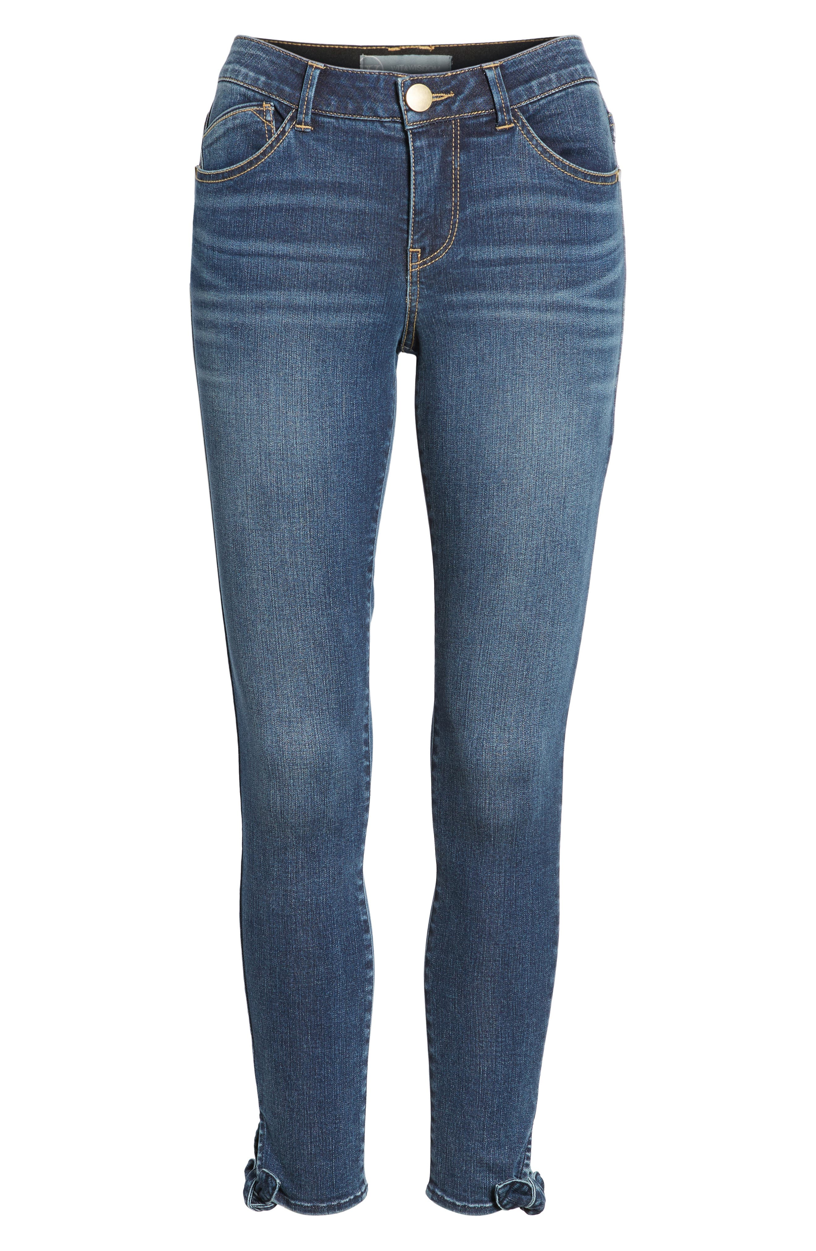 Ab-solution Ankle Skinny Skimmer Jeans,                             Alternate thumbnail 6, color,                             Bl- Blue
