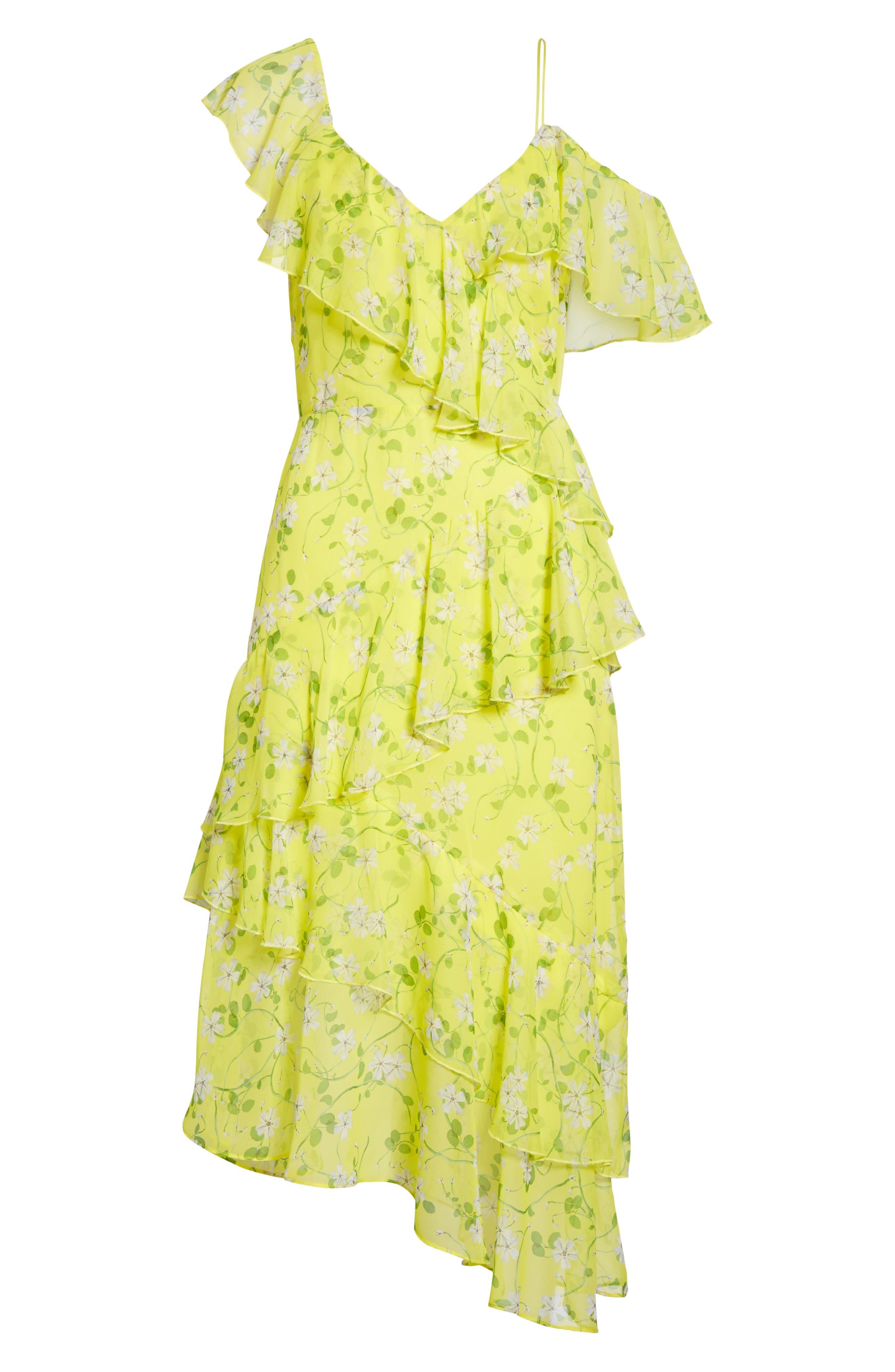 Alternate Image 6  - Alice + Olivia Olympia Asymmetrical Print Silk Dress