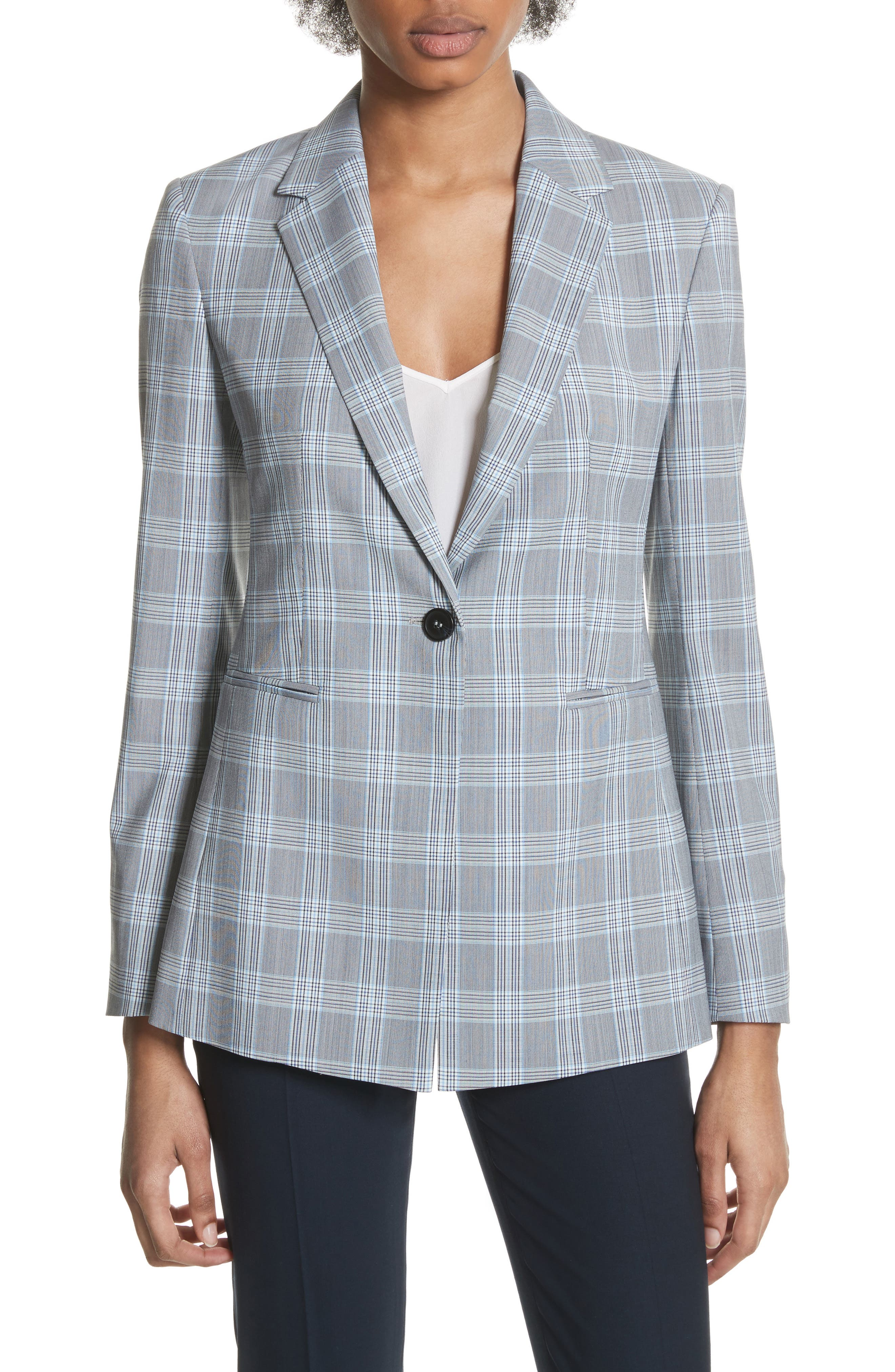Mapel Wool Power Jacket,                         Main,                         color, White