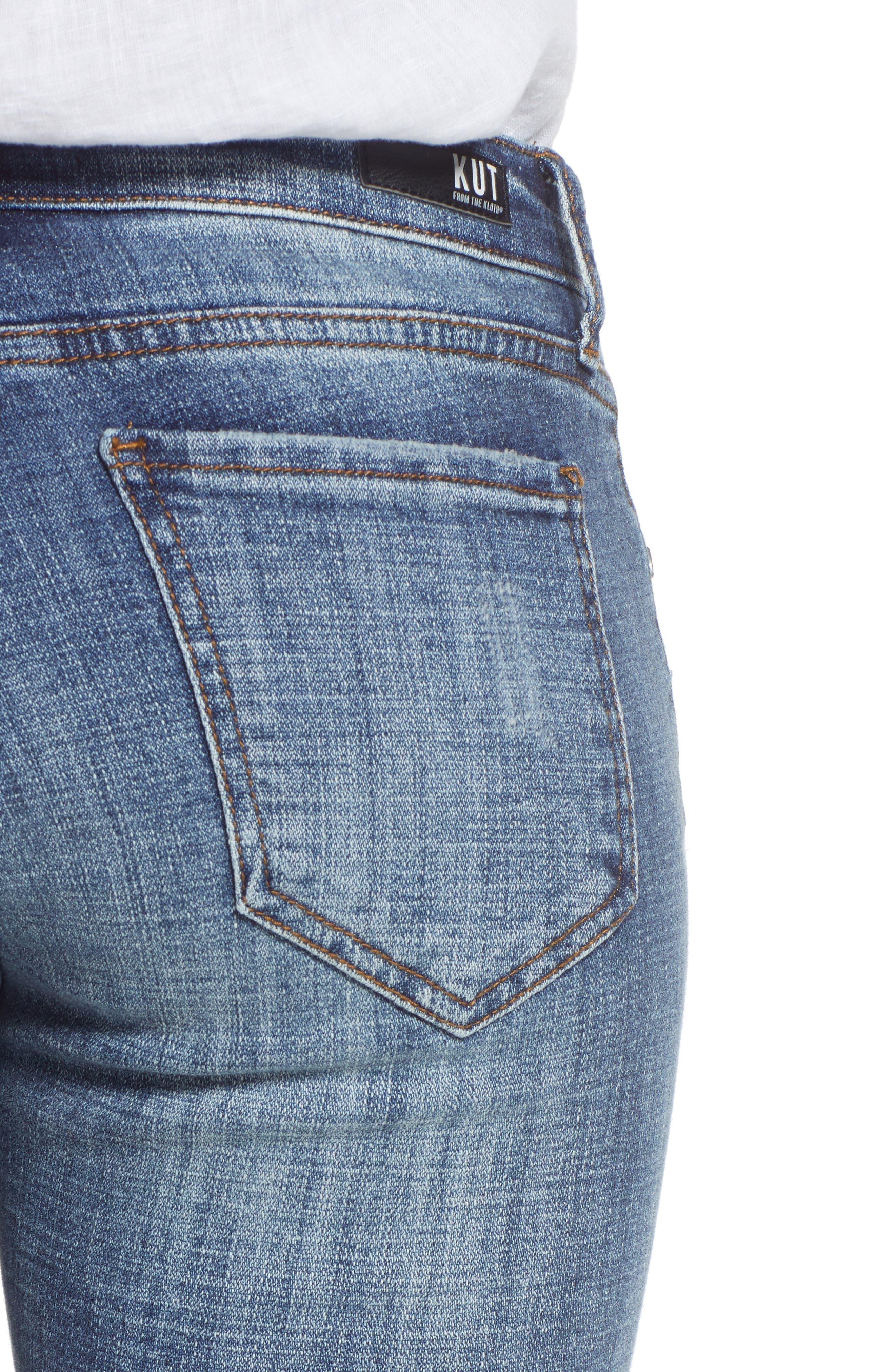 Amy Distressed Crop Jeans,                             Alternate thumbnail 4, color,                             Soar