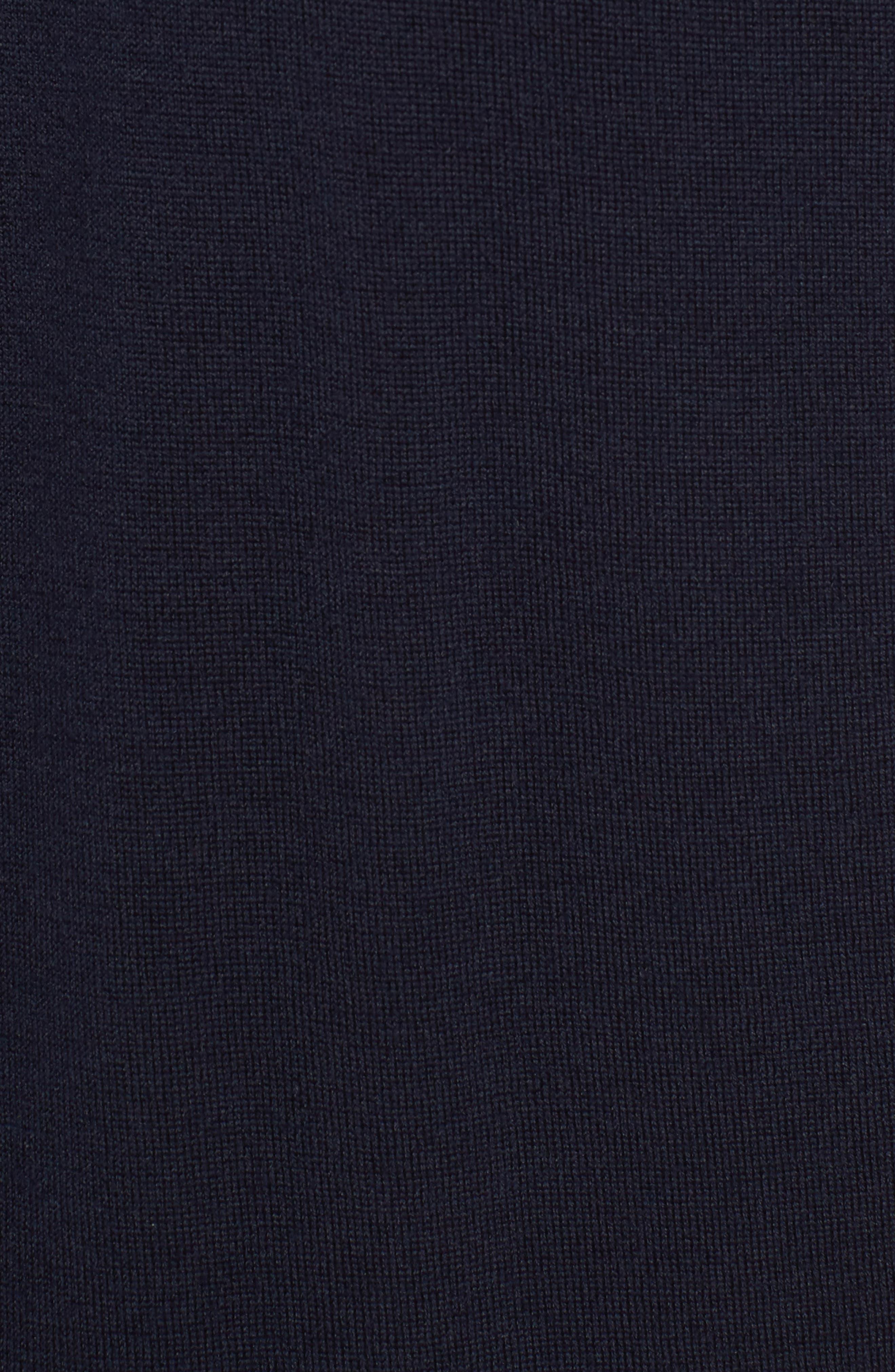 Colorblock Merino Wool Polo,                             Alternate thumbnail 5, color,                             Midnight/ Indigo