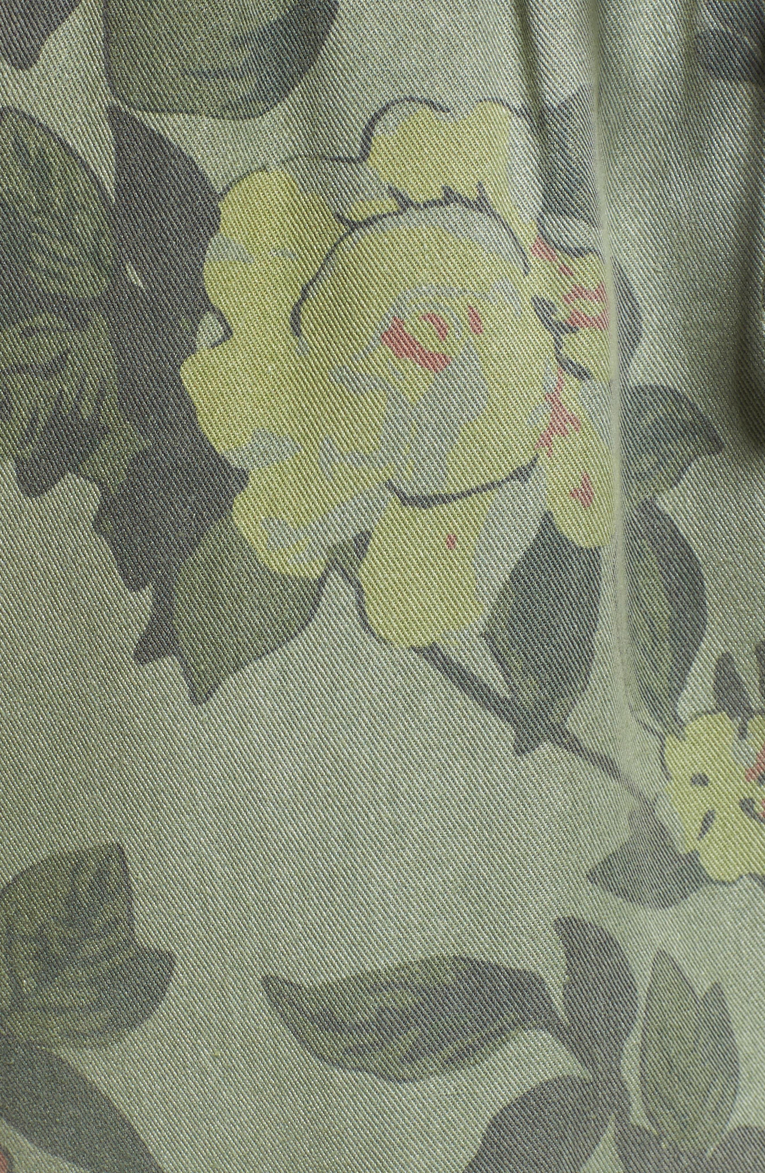 Floral Cargo Pants,                             Alternate thumbnail 6, color,                             Wallflower Print