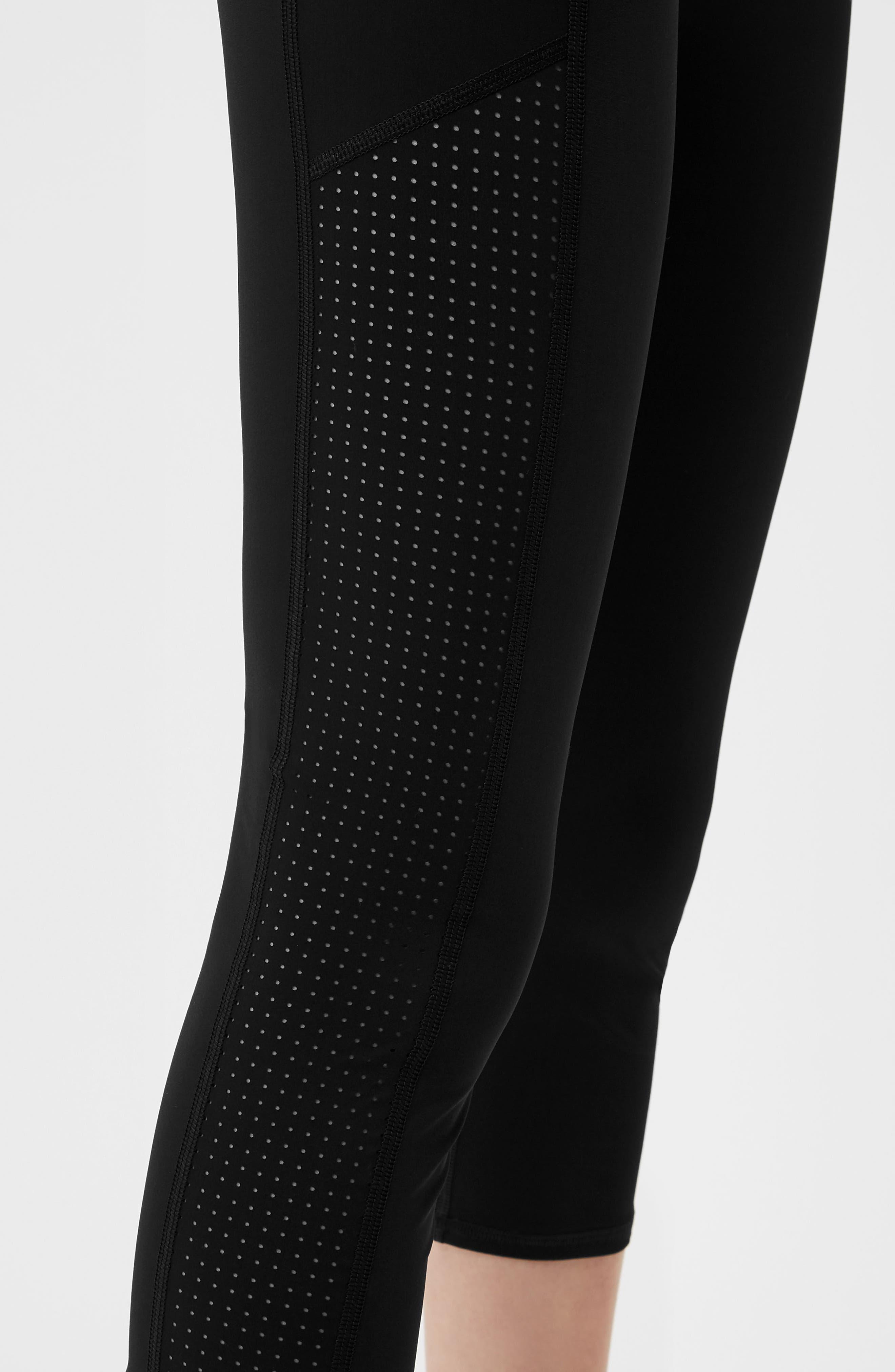 Zero Gravity Crop Leggings,                             Alternate thumbnail 4, color,                             Black