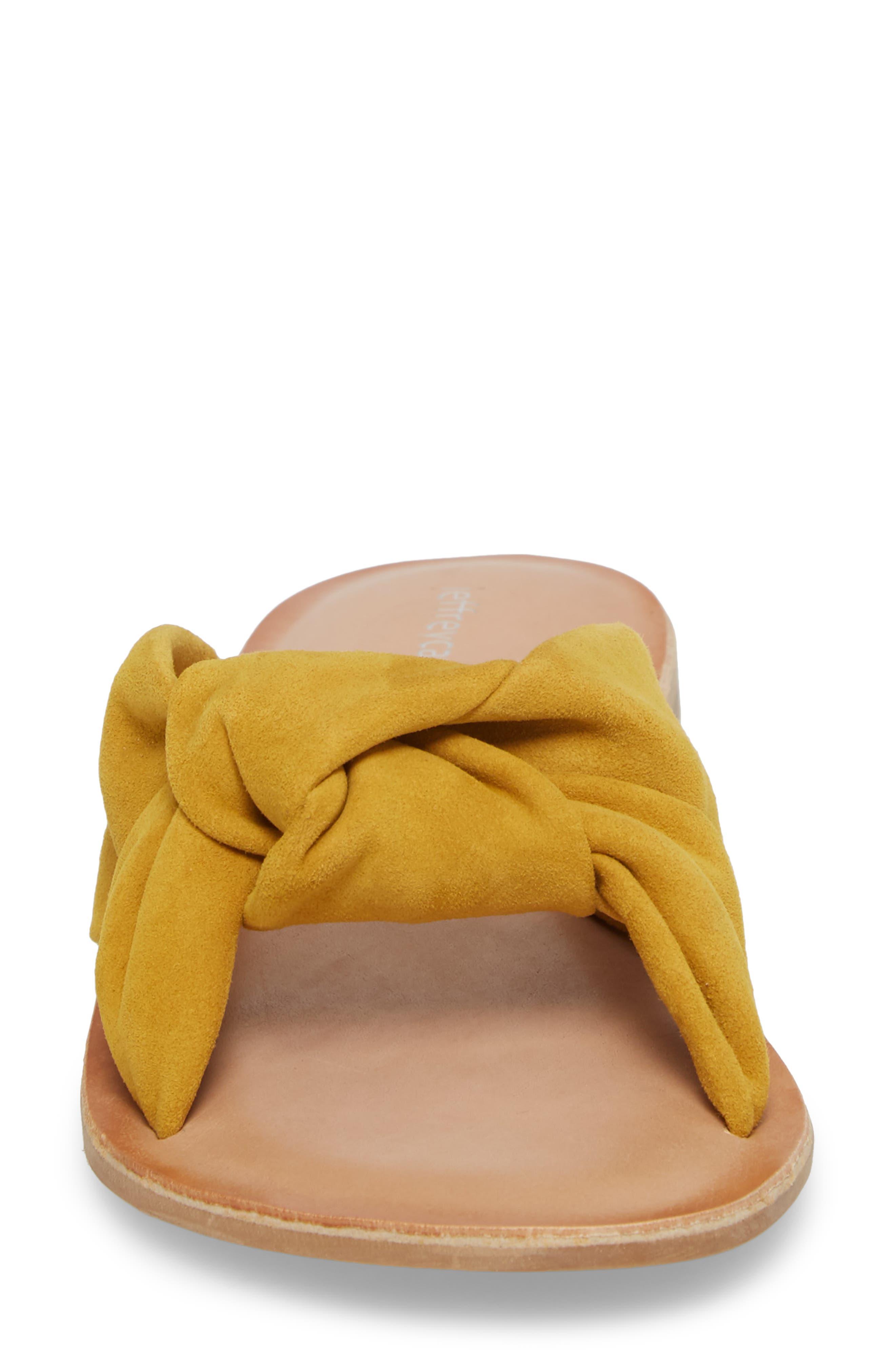 Zocalo Slide Sandal,                             Alternate thumbnail 4, color,                             Mustard Suede