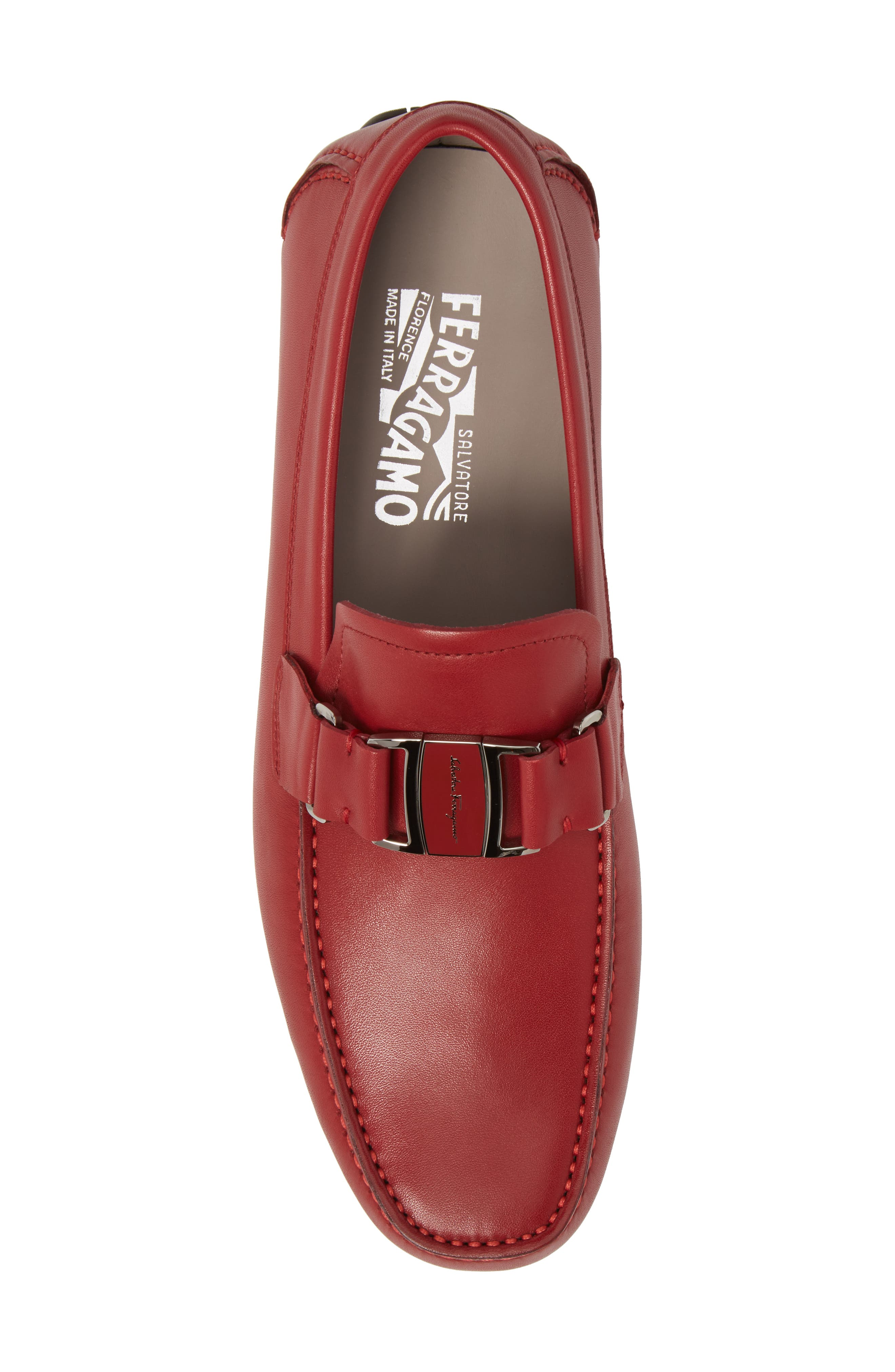 Sardegna Driving Shoe,                             Alternate thumbnail 5, color,                             Red Leather