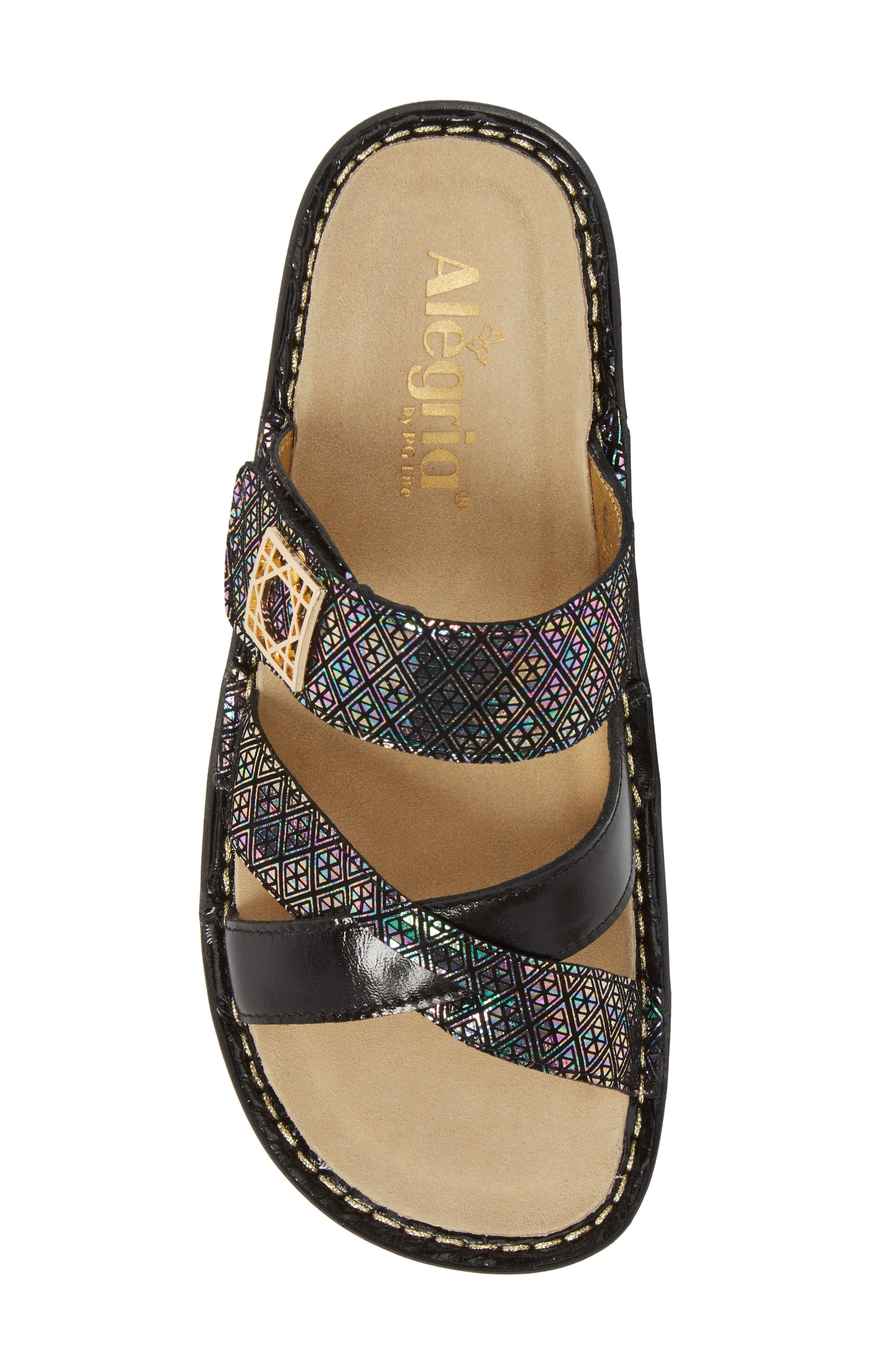 by PG Lite Victoriah Slide Sandal,                             Alternate thumbnail 5, color,                             Diamonds Forever Leather