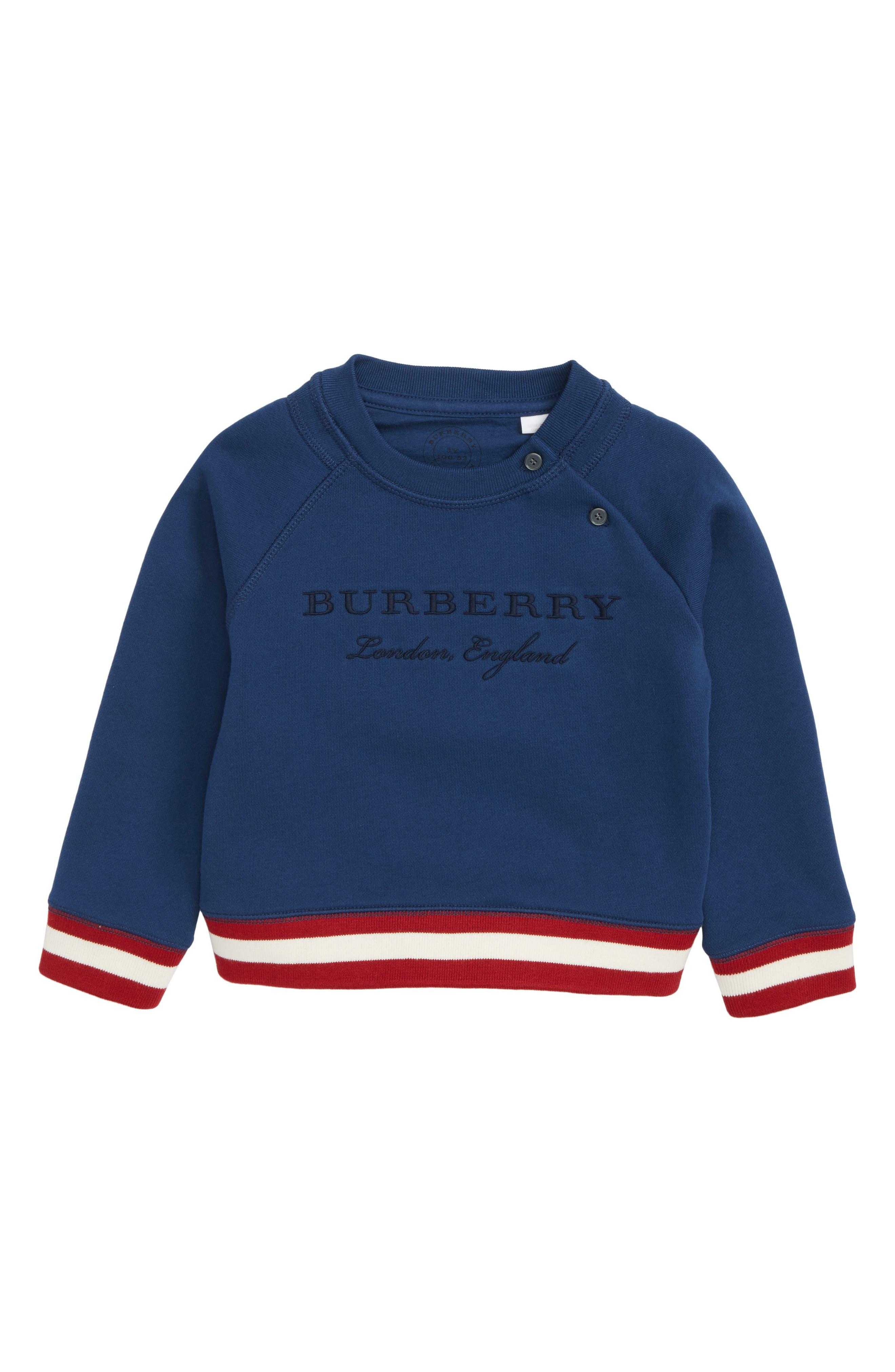 Main Image - Burberry Stanley Jersey Sweatshirt (Toddler Boys)