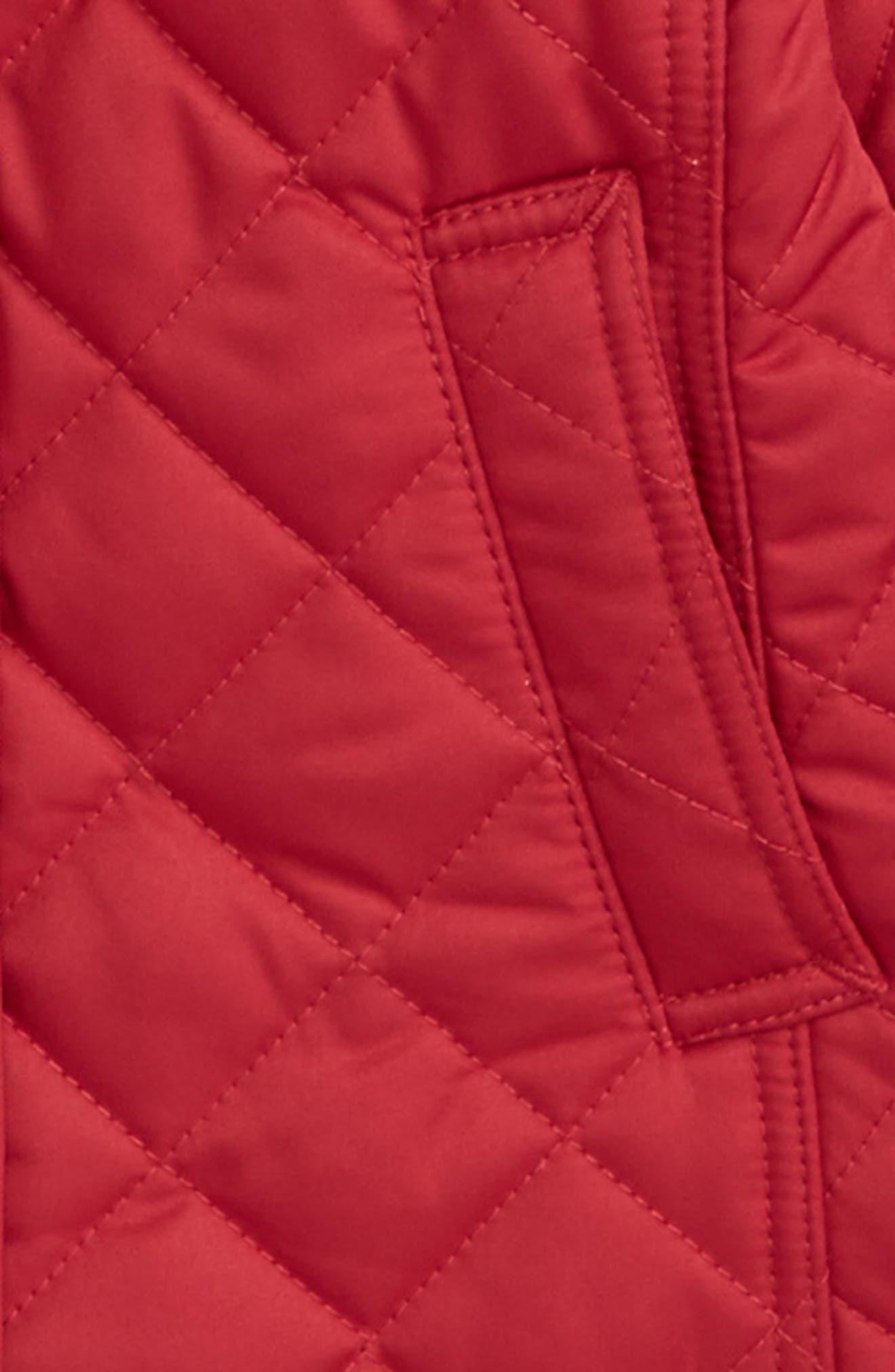Mini Ashurst Diamond Quilted Jacket,                             Alternate thumbnail 2, color,                             Crimson Pink