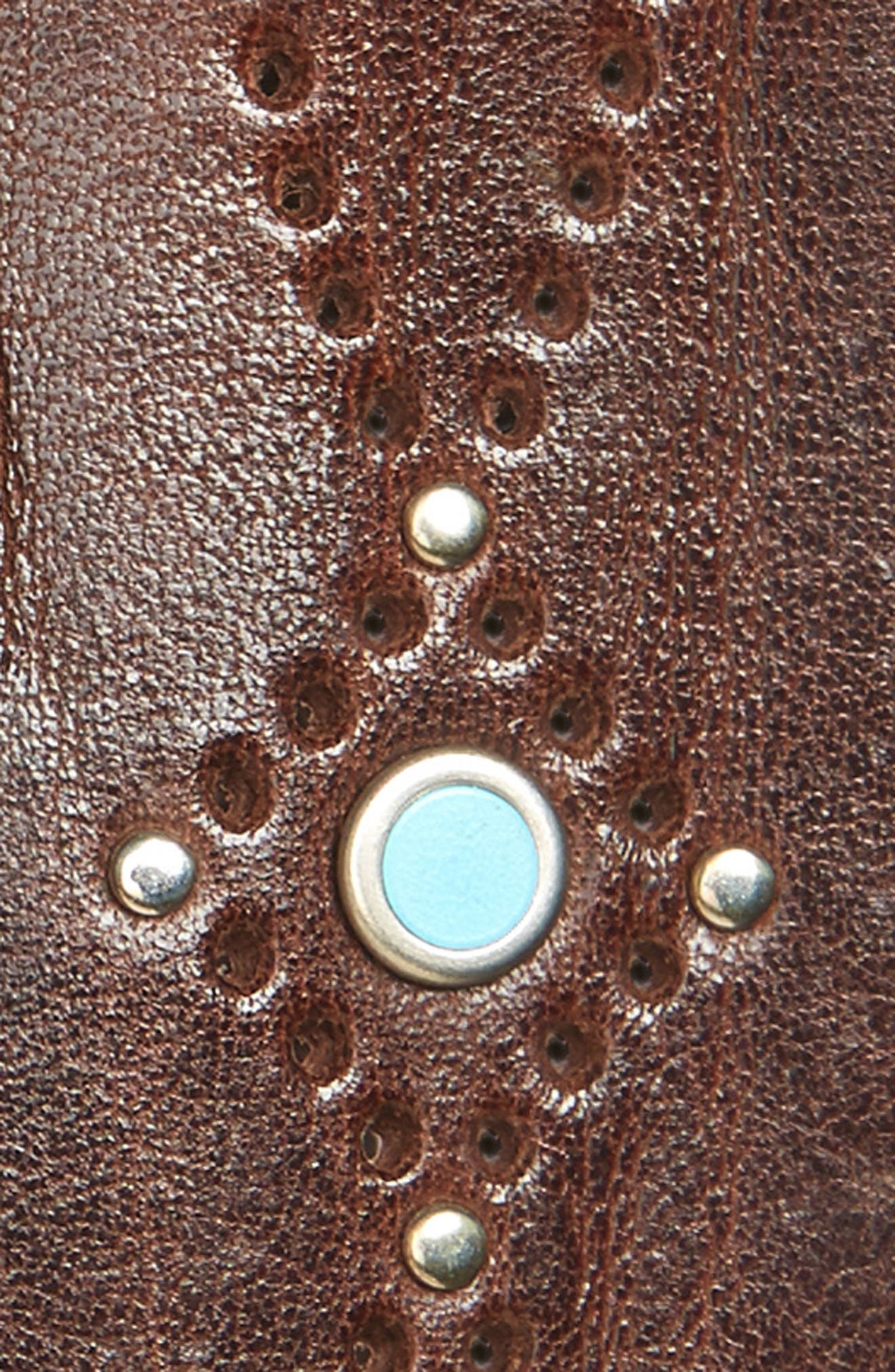 Wax Embellished Leather Belt,                             Alternate thumbnail 2, color,                             T. Moro