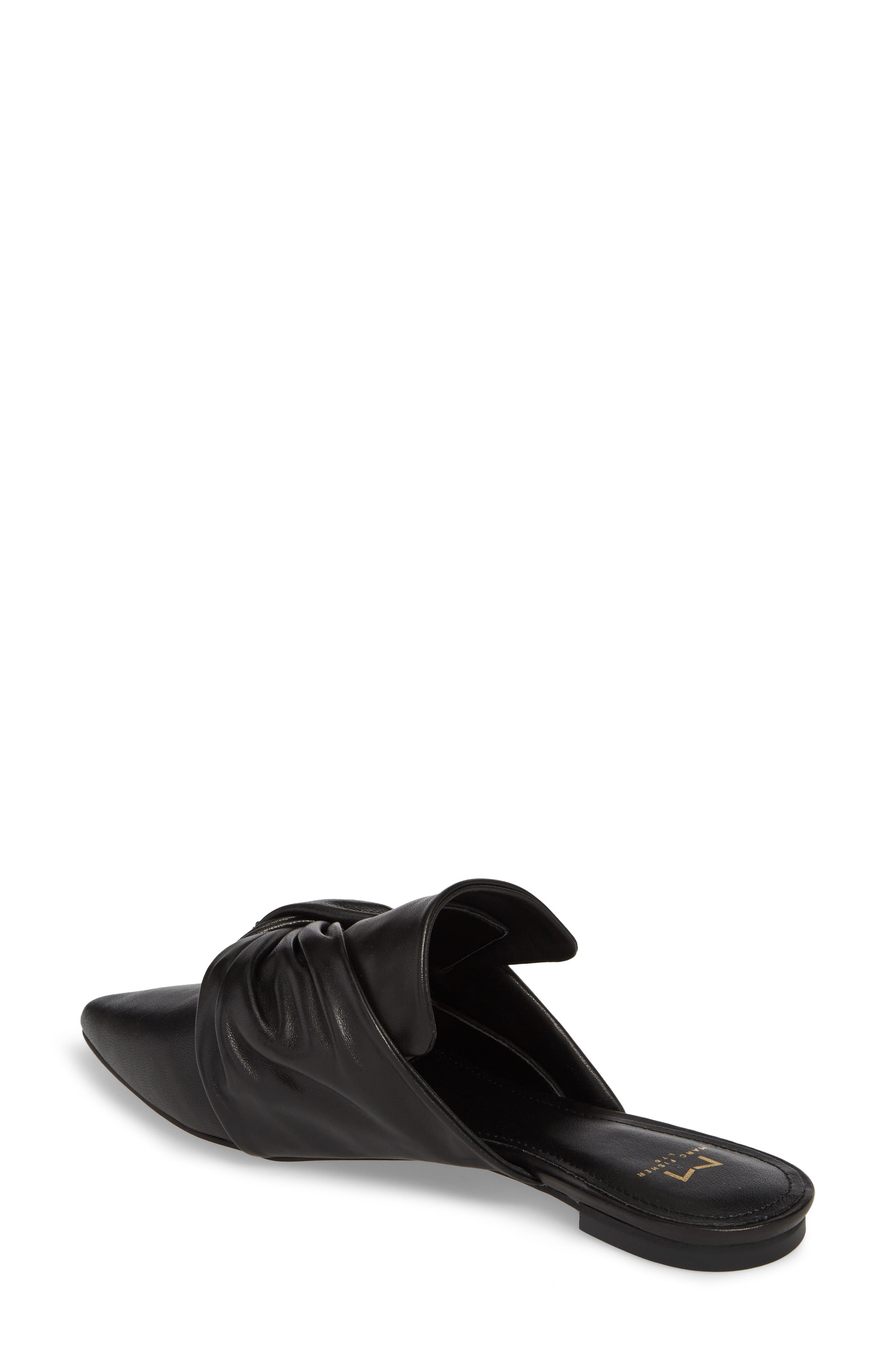 Shafi Pointy Toe Slide,                             Alternate thumbnail 2, color,                             Black Leather