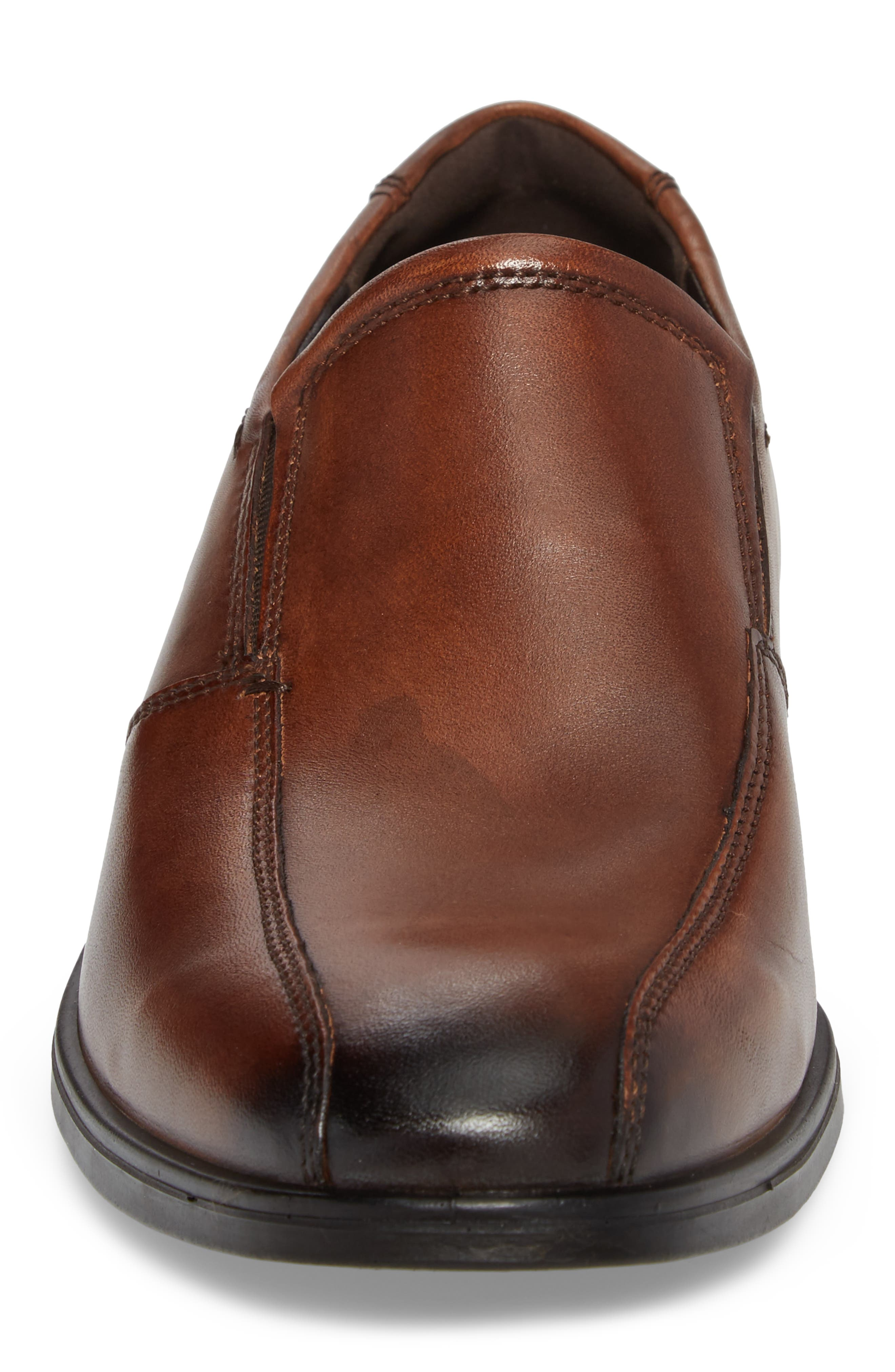 Melbourne Venetian Loafer,                             Alternate thumbnail 4, color,                             Amber Leather