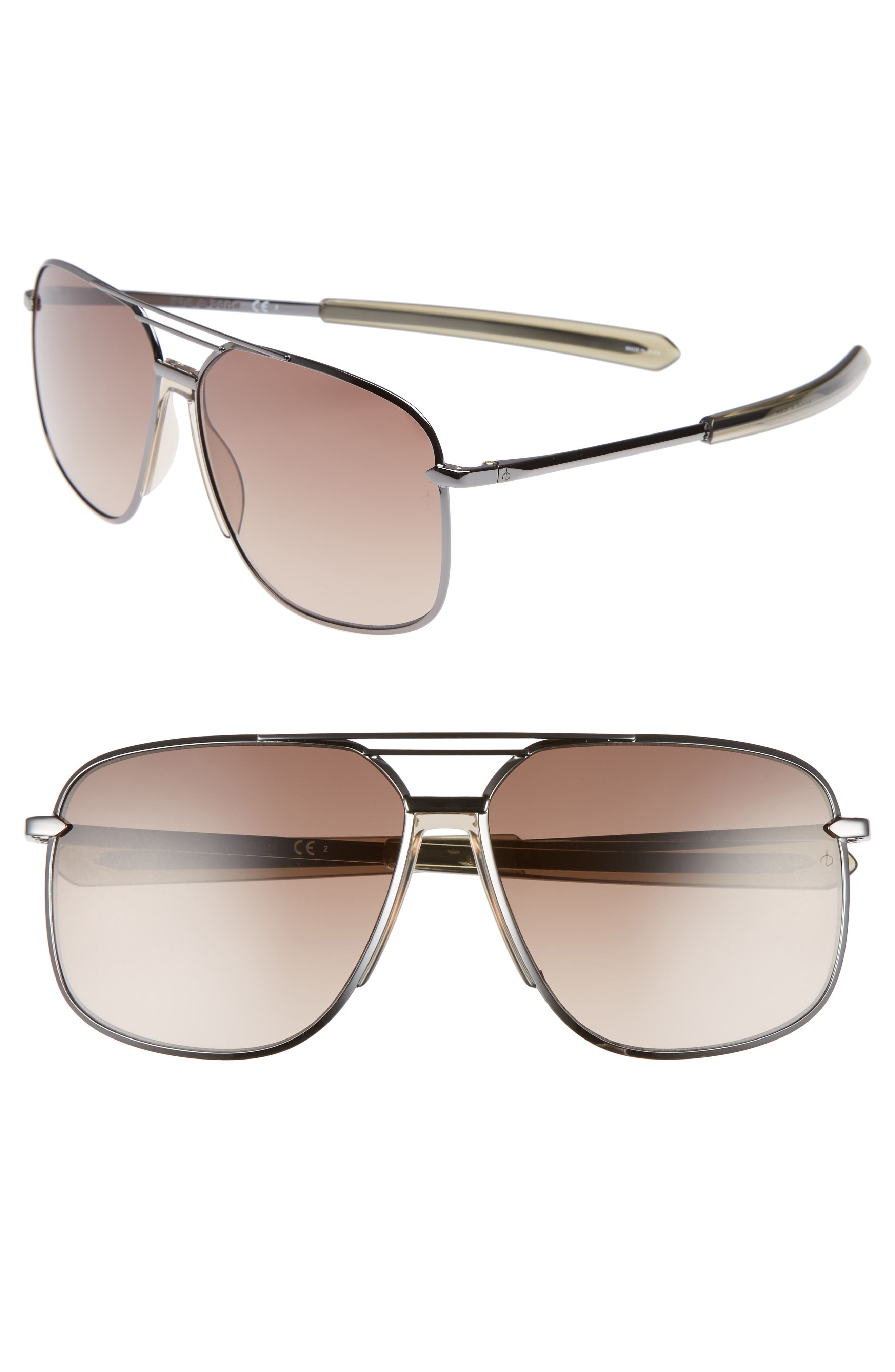 rag & bone Caravan 62mm Oversize Aviator Sunglasses