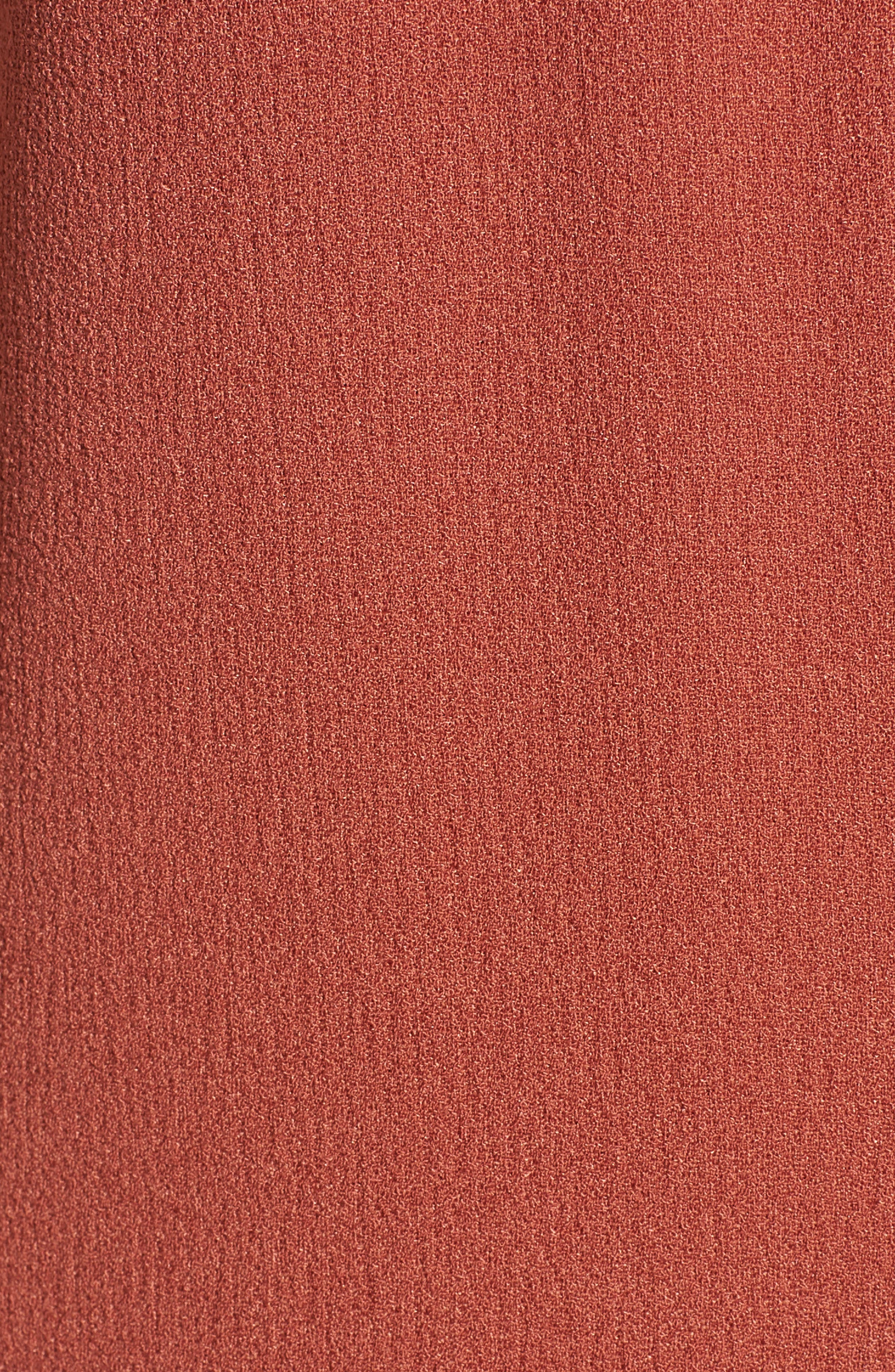 Hailey Crepe Dress,                             Alternate thumbnail 3, color,                             Rust Marsala