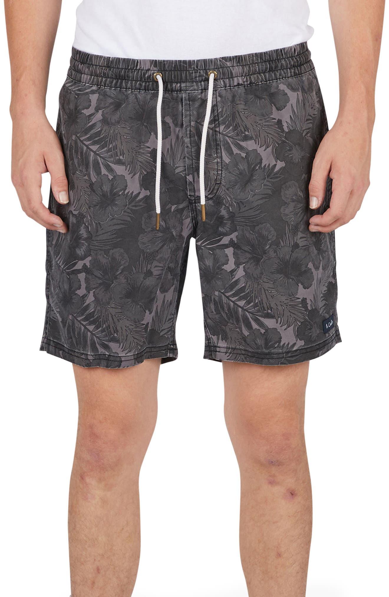 Amphibious Shorts,                             Main thumbnail 1, color,                             Black Floral