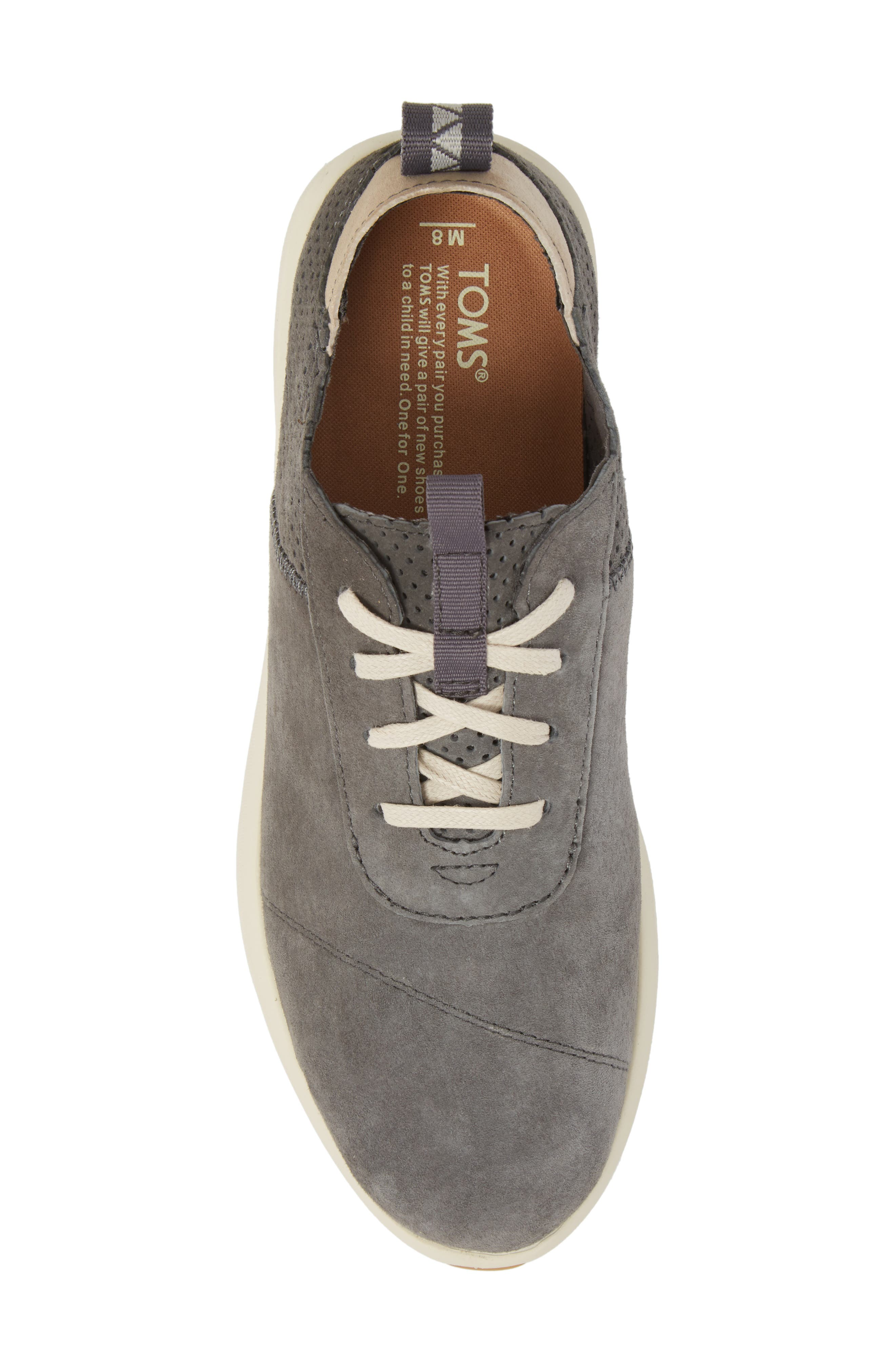 Cabrillo Perforated Low Top Sneaker,                             Alternate thumbnail 5, color,                             Shade Suede