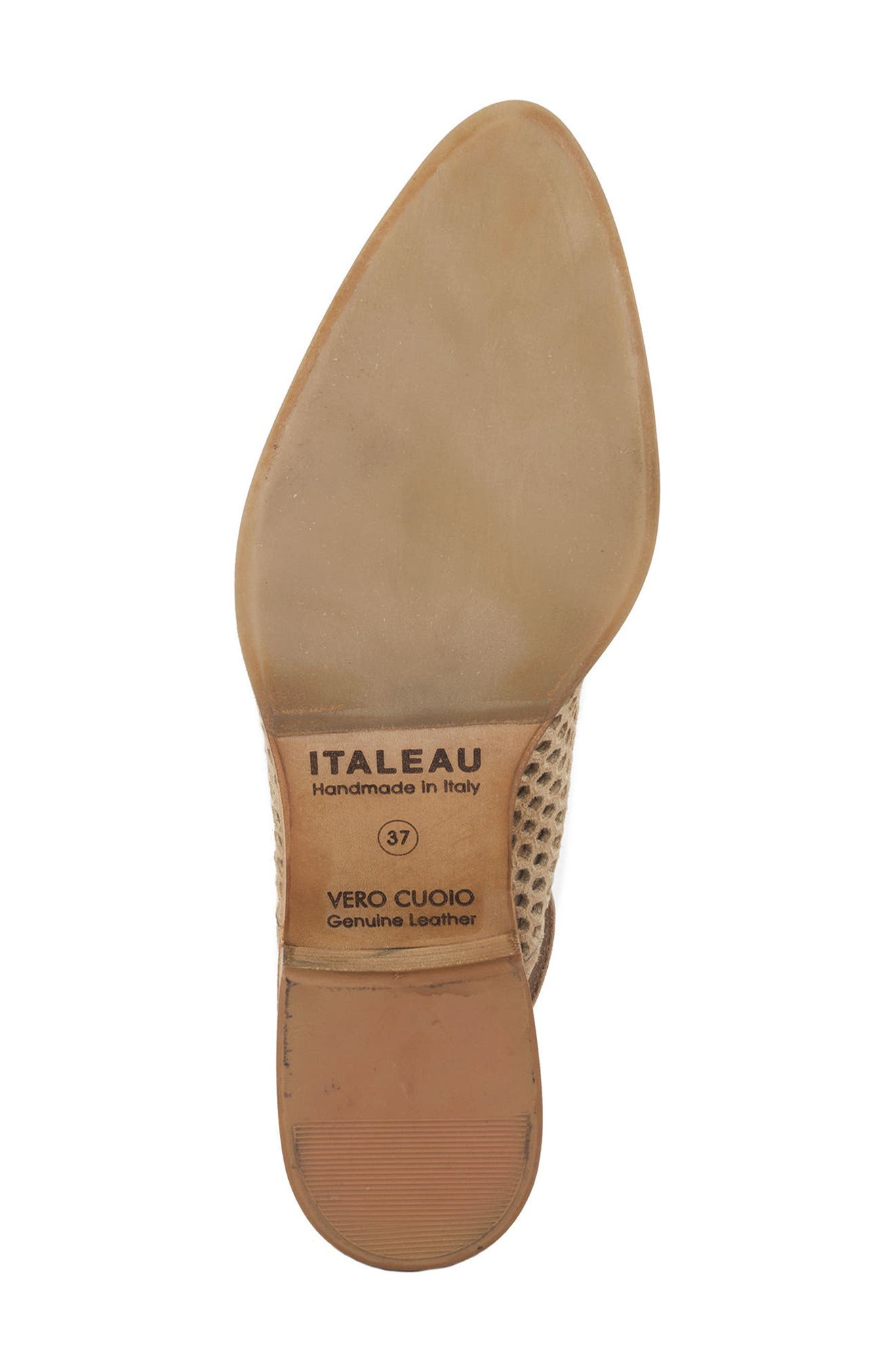 Toselli Water Resistant Slingback Bootie,                             Alternate thumbnail 6, color,                             Sand