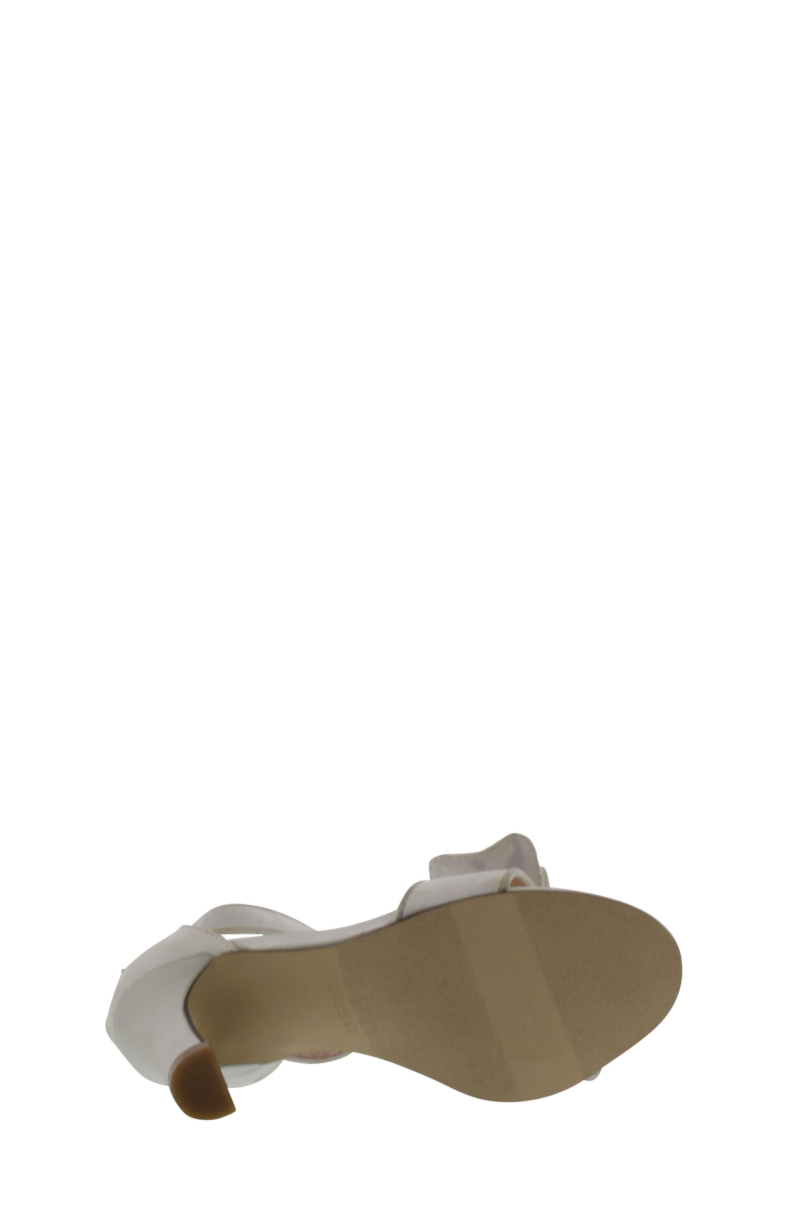 Kendall Embellished Bow Sandal,                             Alternate thumbnail 6, color,                             White Multi