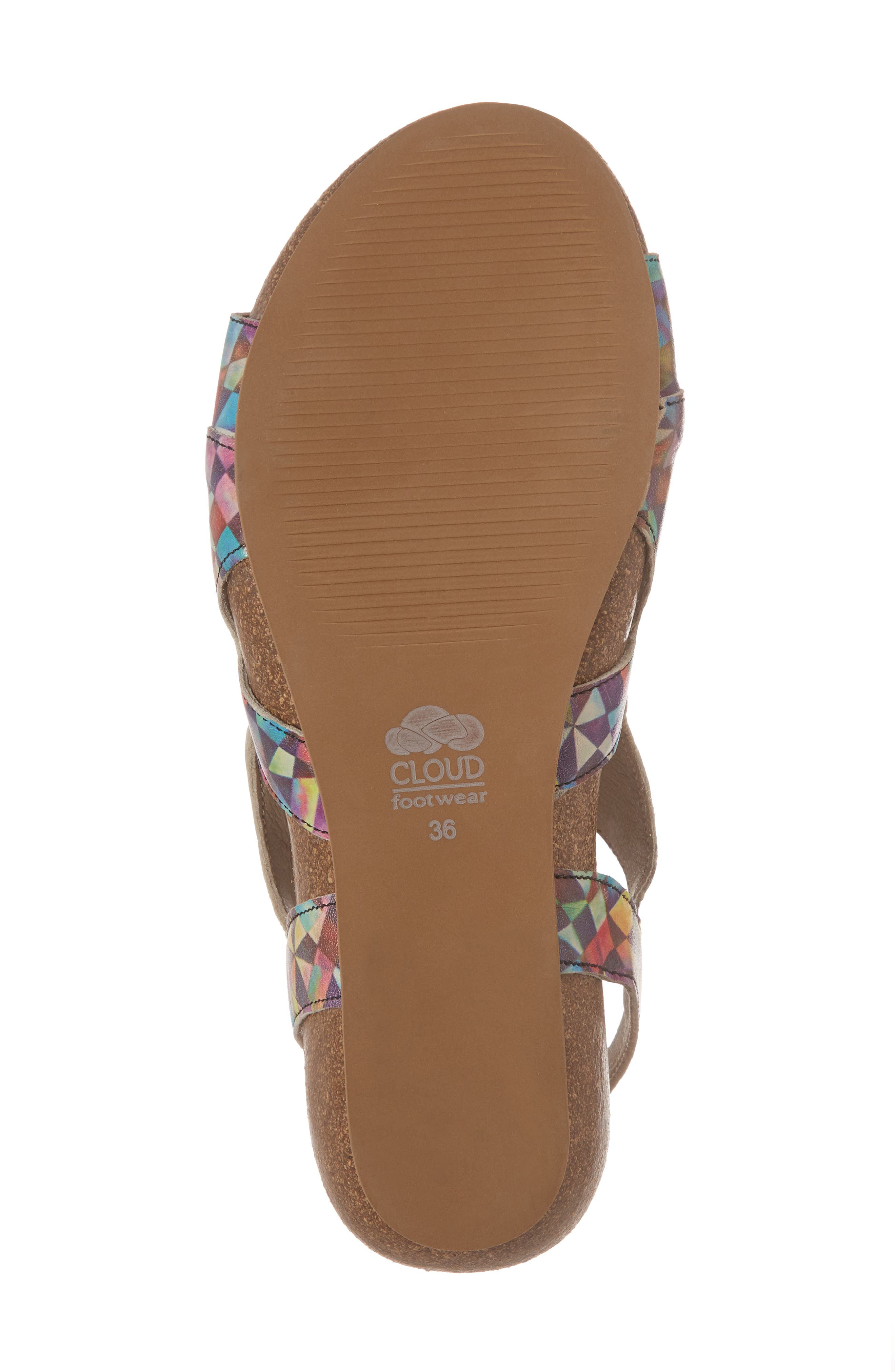 Duffy Wedge Sandal,                             Alternate thumbnail 6, color,                             Mystere Leather