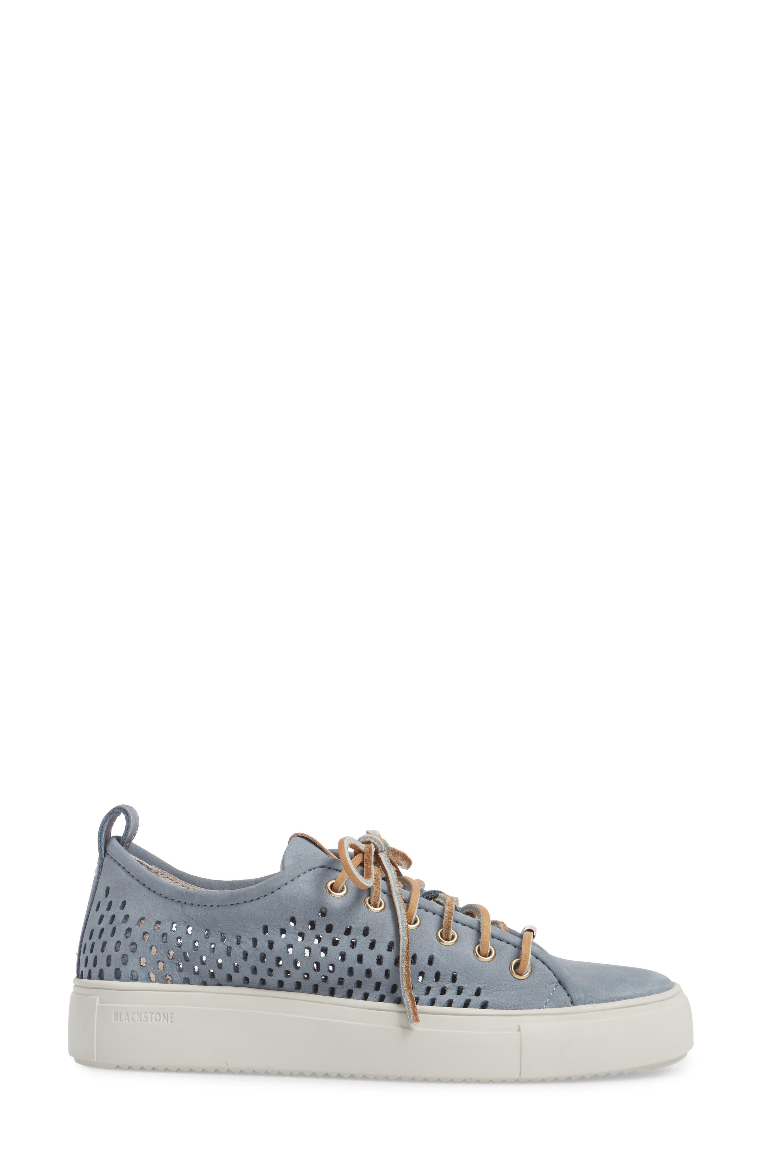 PL87 Sneaker,                             Alternate thumbnail 3, color,                             Winter Sky Leather