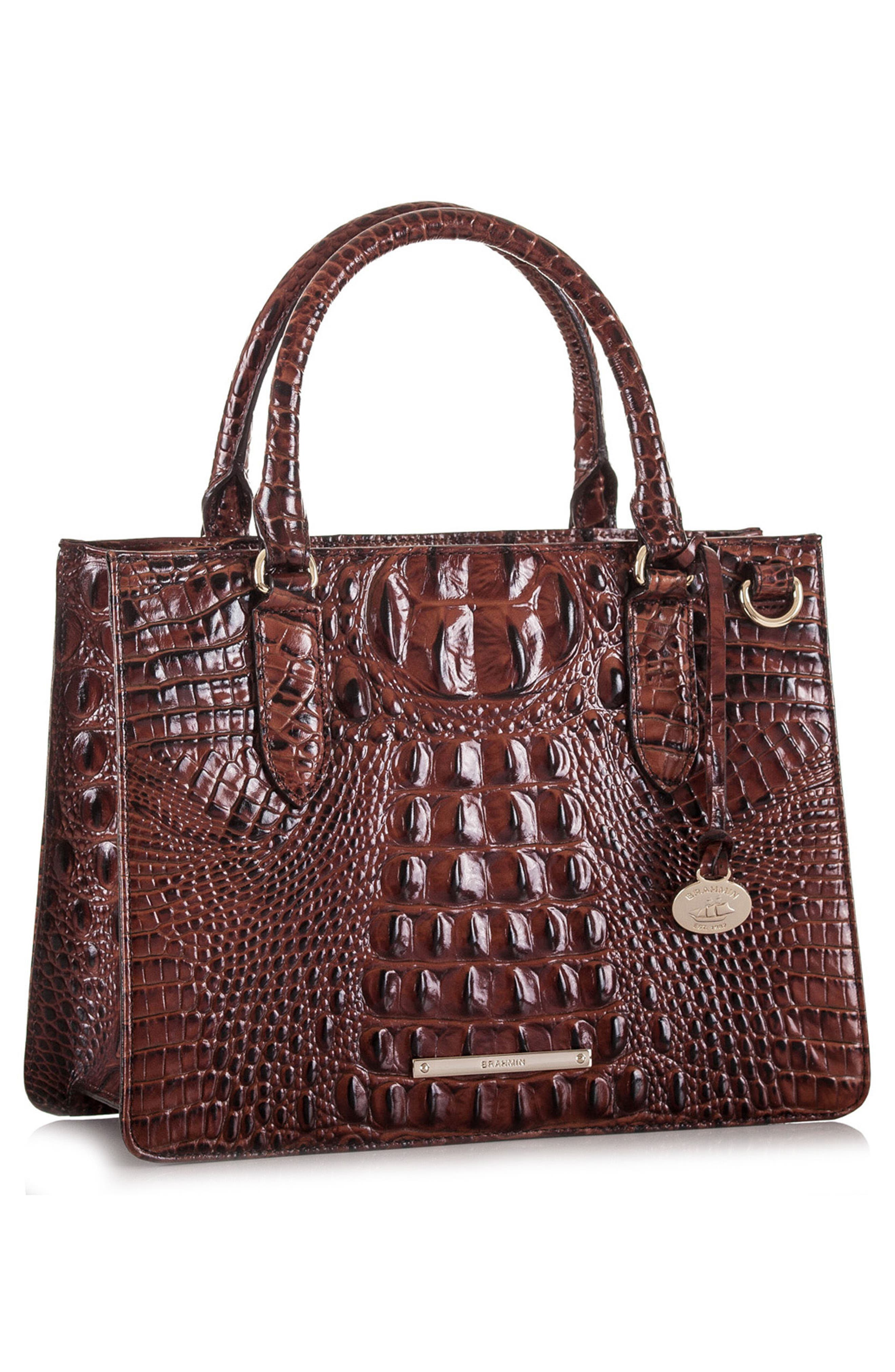 Alternate Image 4  - Brahmin Small Camille Embossed Leather Satchel