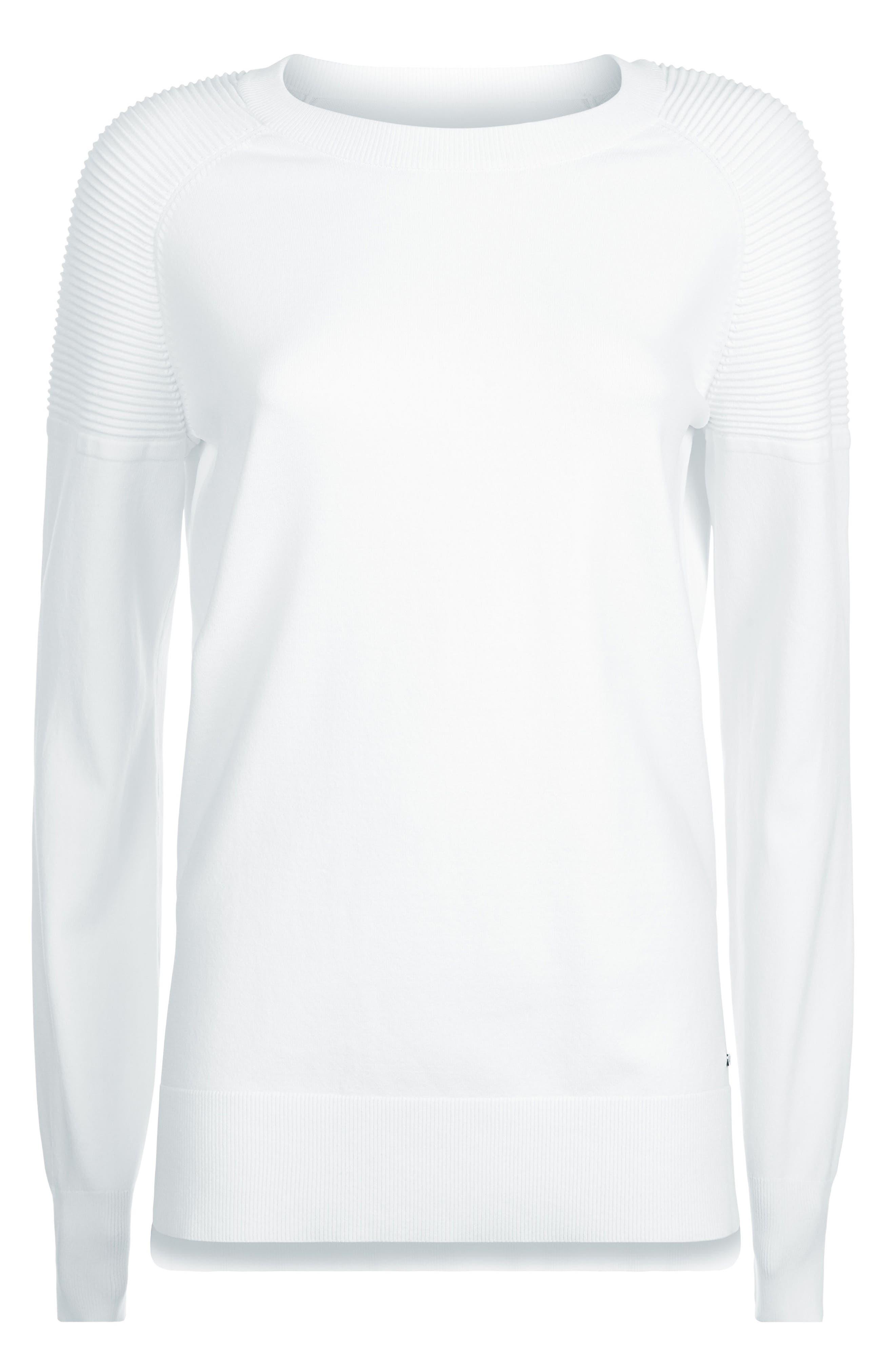 8 Track Sweatshirt,                             Alternate thumbnail 6, color,                             White