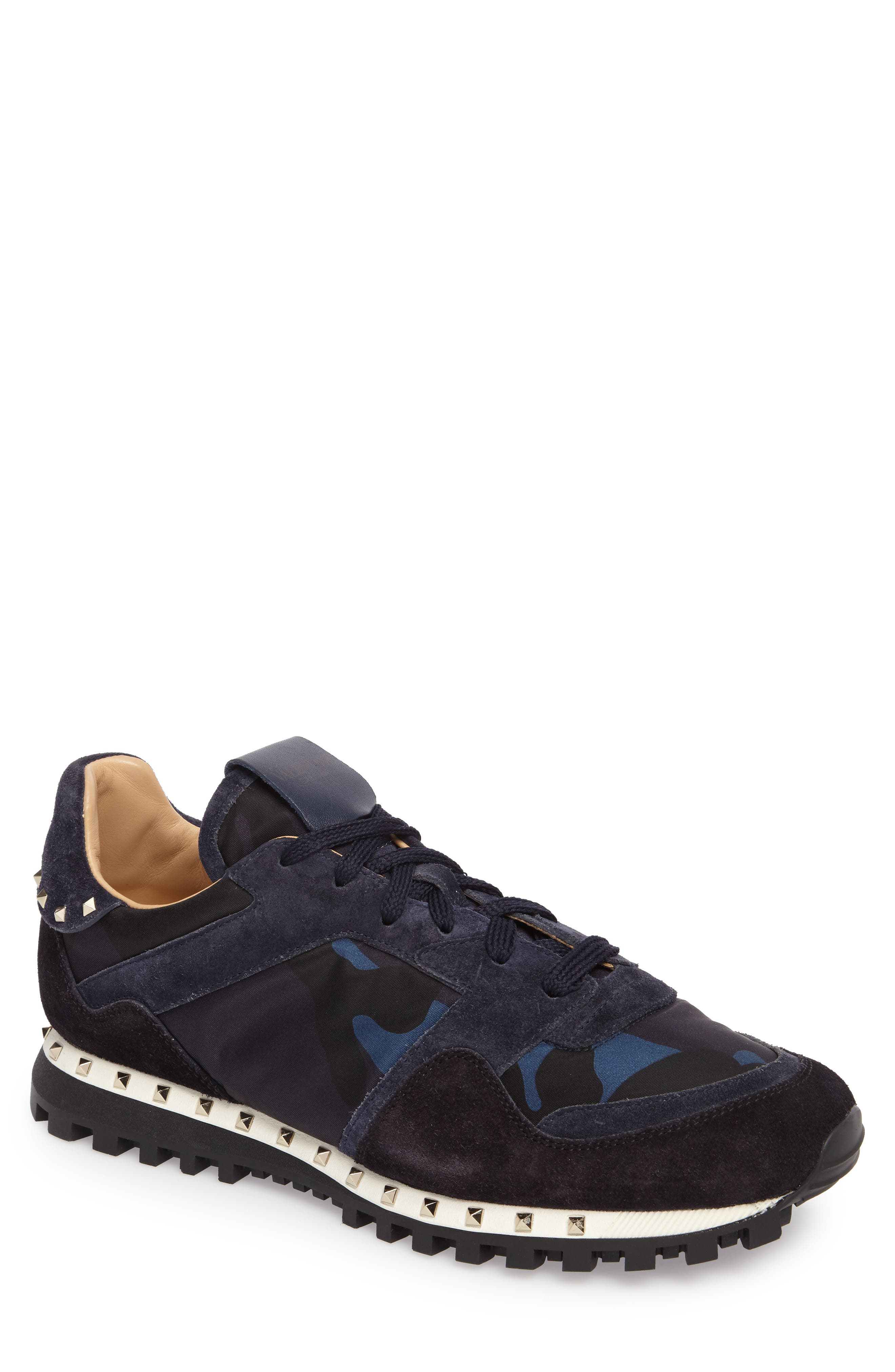 Camo Rockstud Sneaker,                         Main,                         color, Marine/ Nero/ Dark Blue