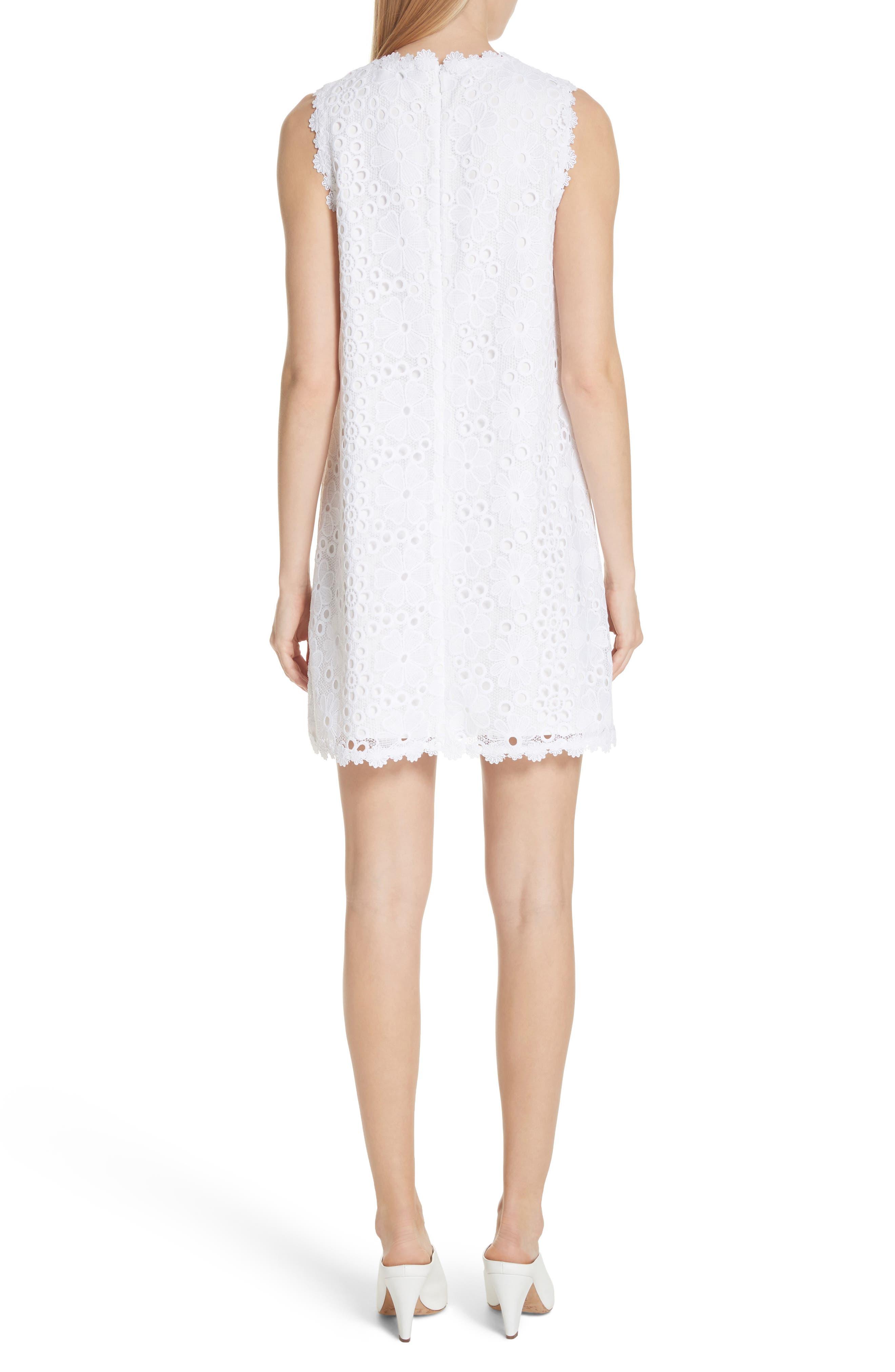 lace shift dress,                             Alternate thumbnail 2, color,                             Fresh White