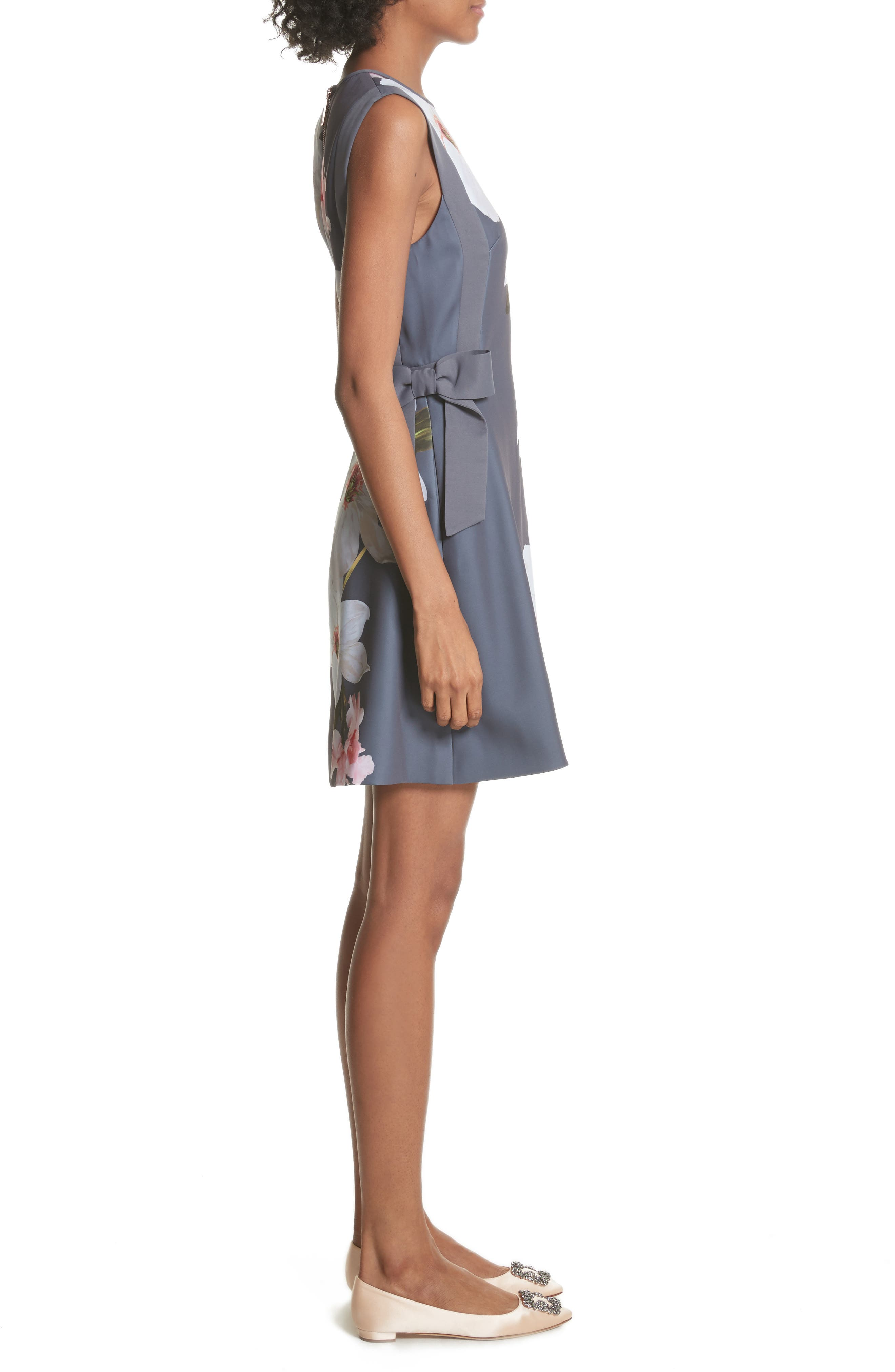 Chatsworrth A-Line Dress,                             Alternate thumbnail 3, color,                             Grey